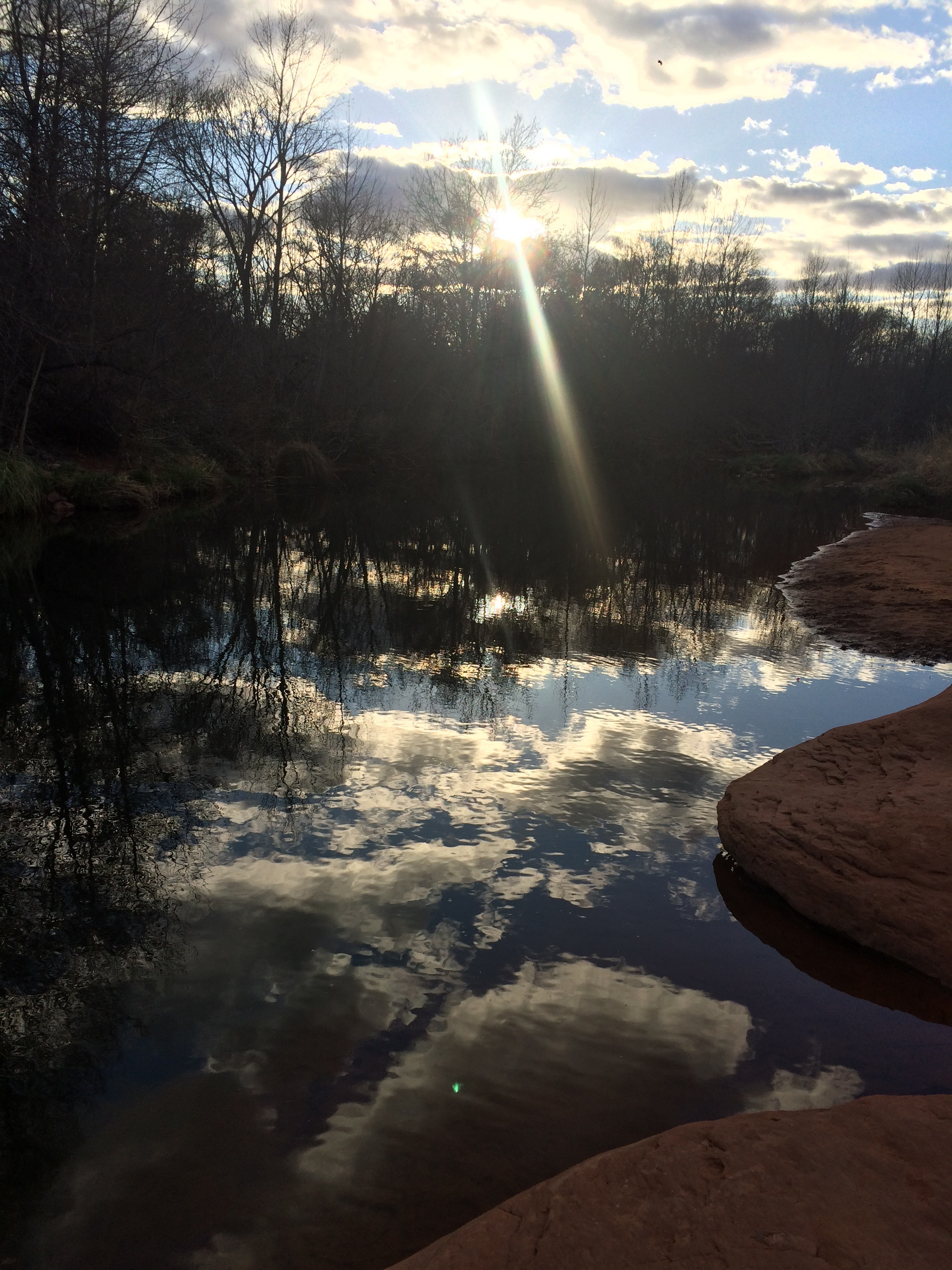 Reflection at Cathedral Rock in Sedona, AZ.