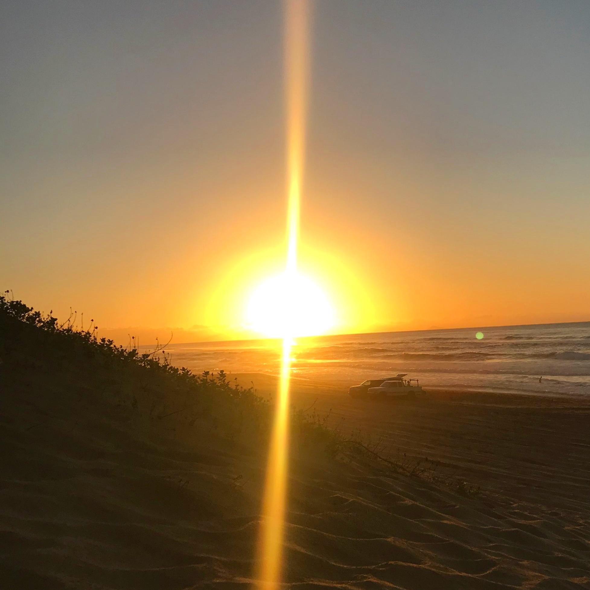Sunrise over Kaua'i. Polihale state park.