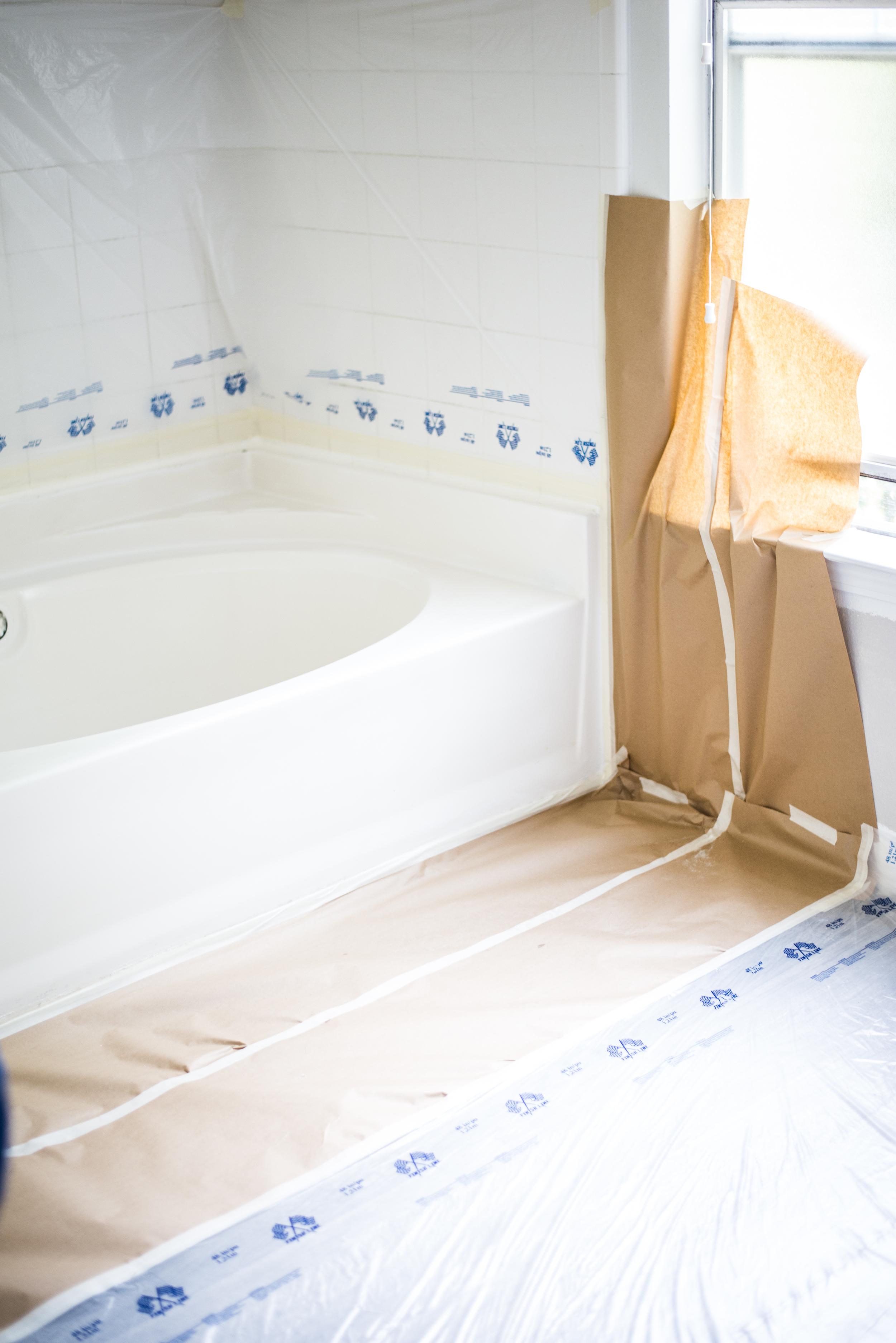 Interior Rehab Tub Refinishing Prep