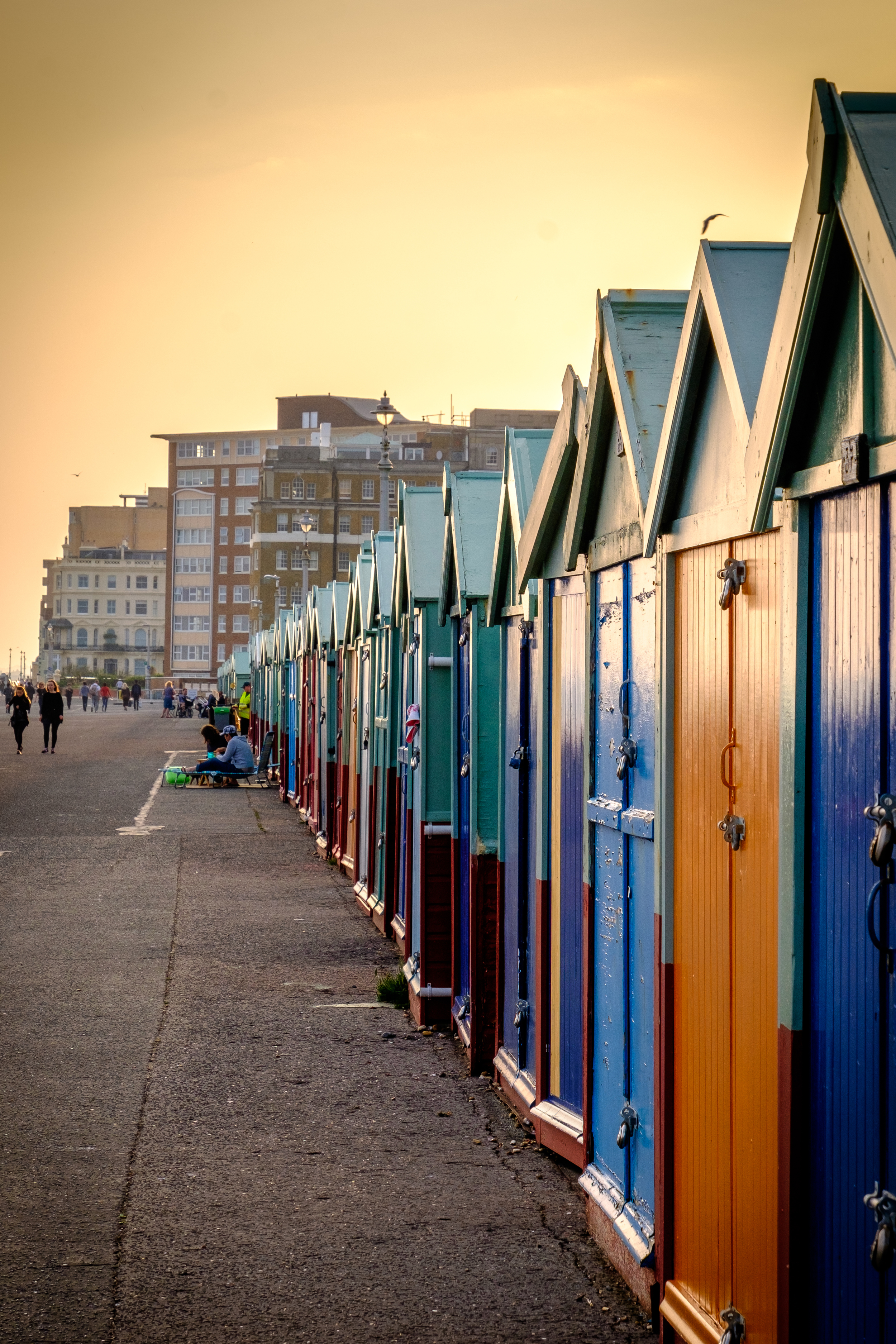Colourful beach huts - Brighton