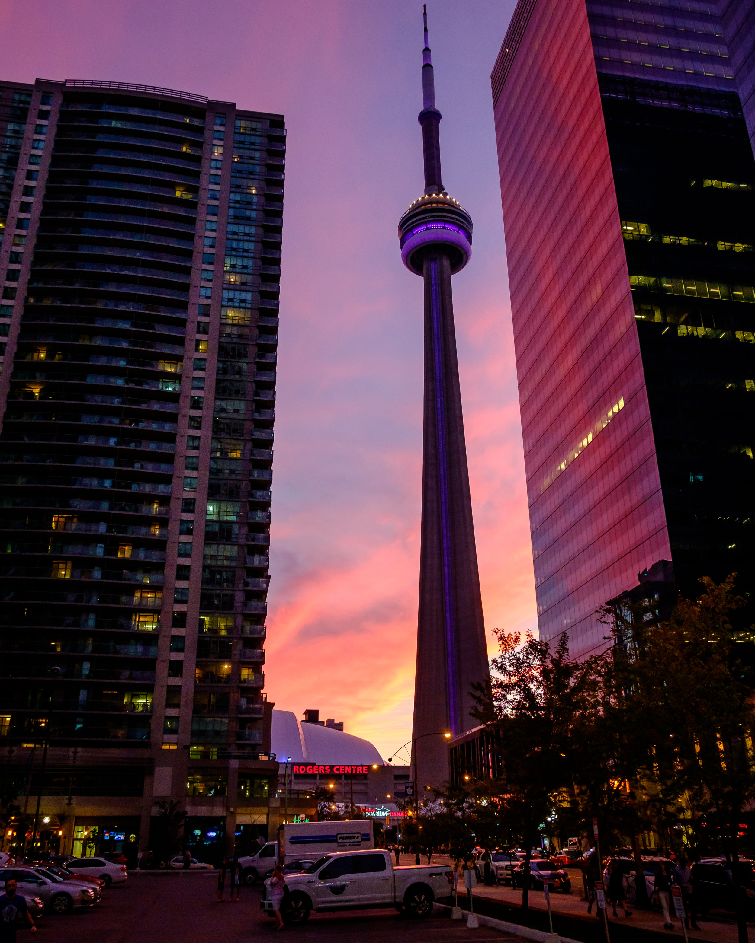 Sunset at CN Tower