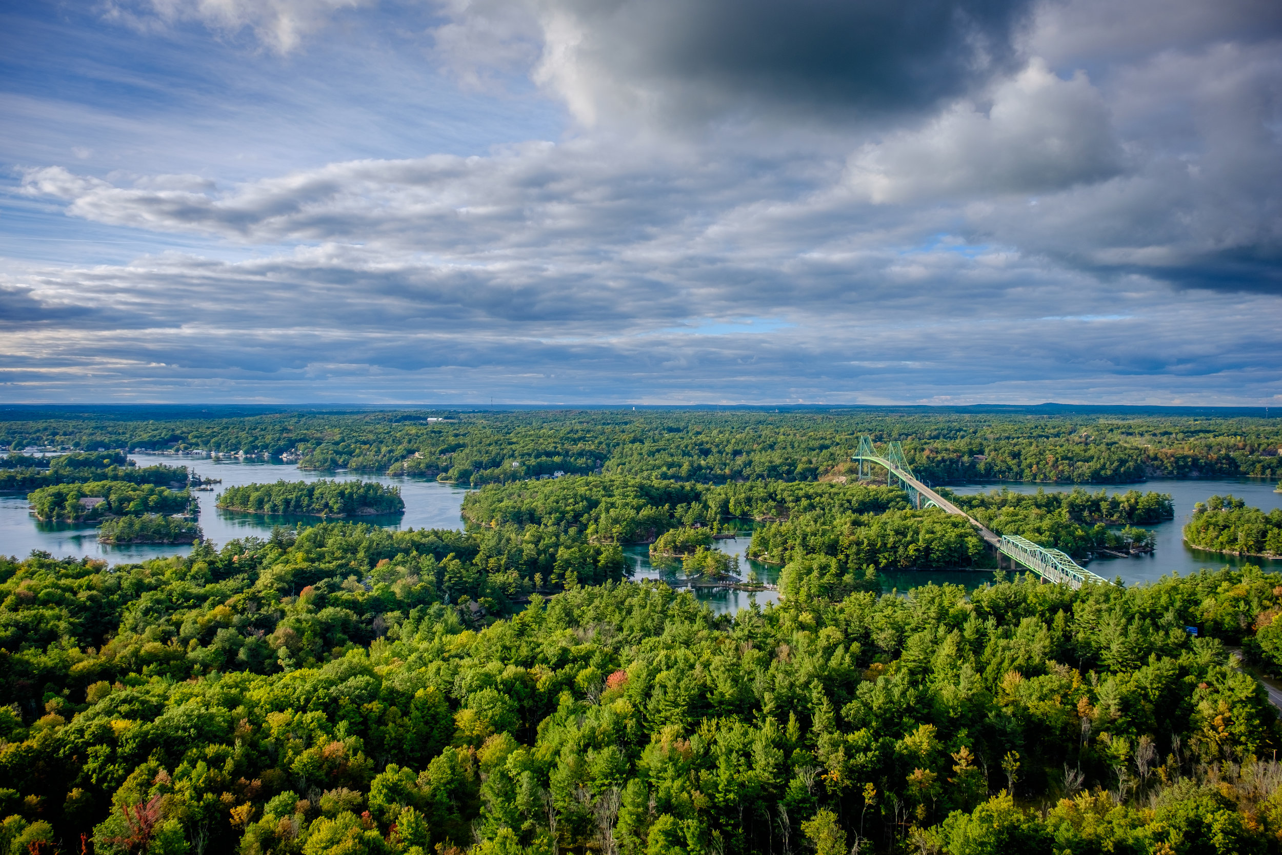 View from 1000 Islands Tower