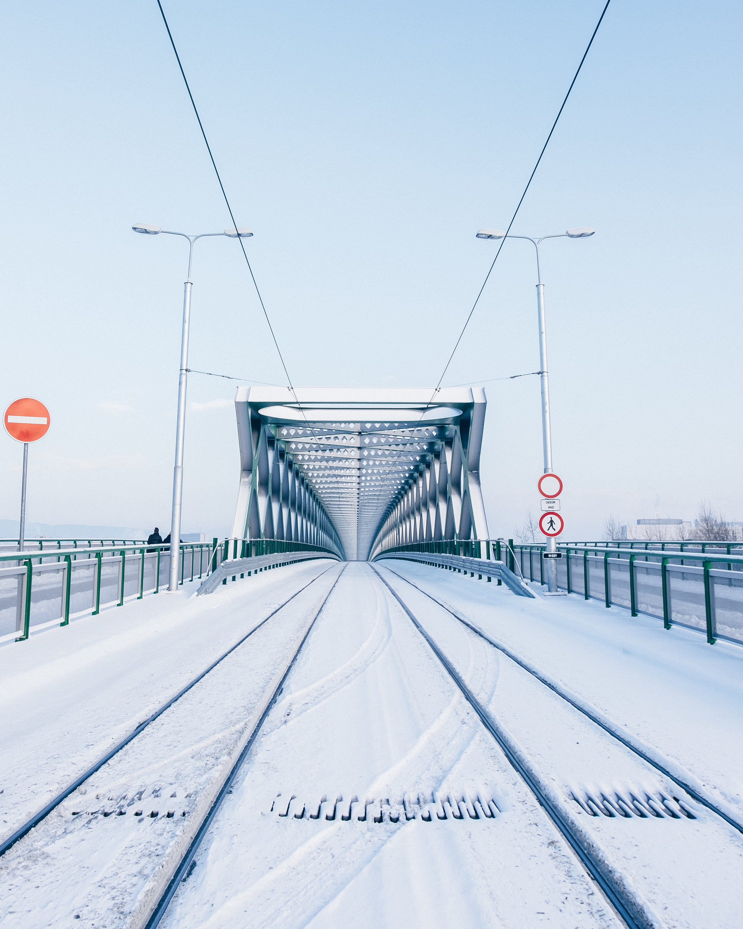 Tram railings on Old Bridge