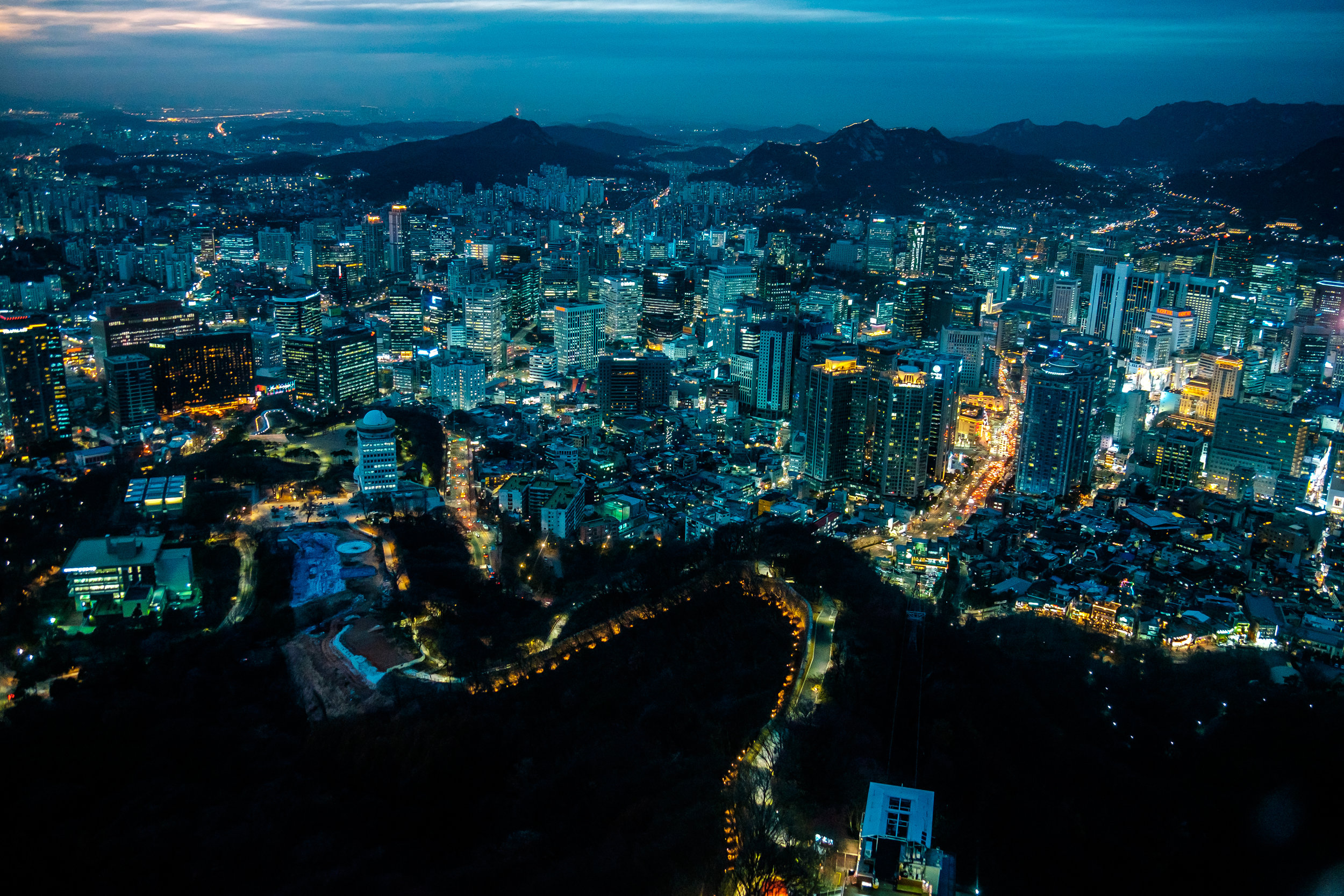 Downtown Seoul from N Seoul Tower