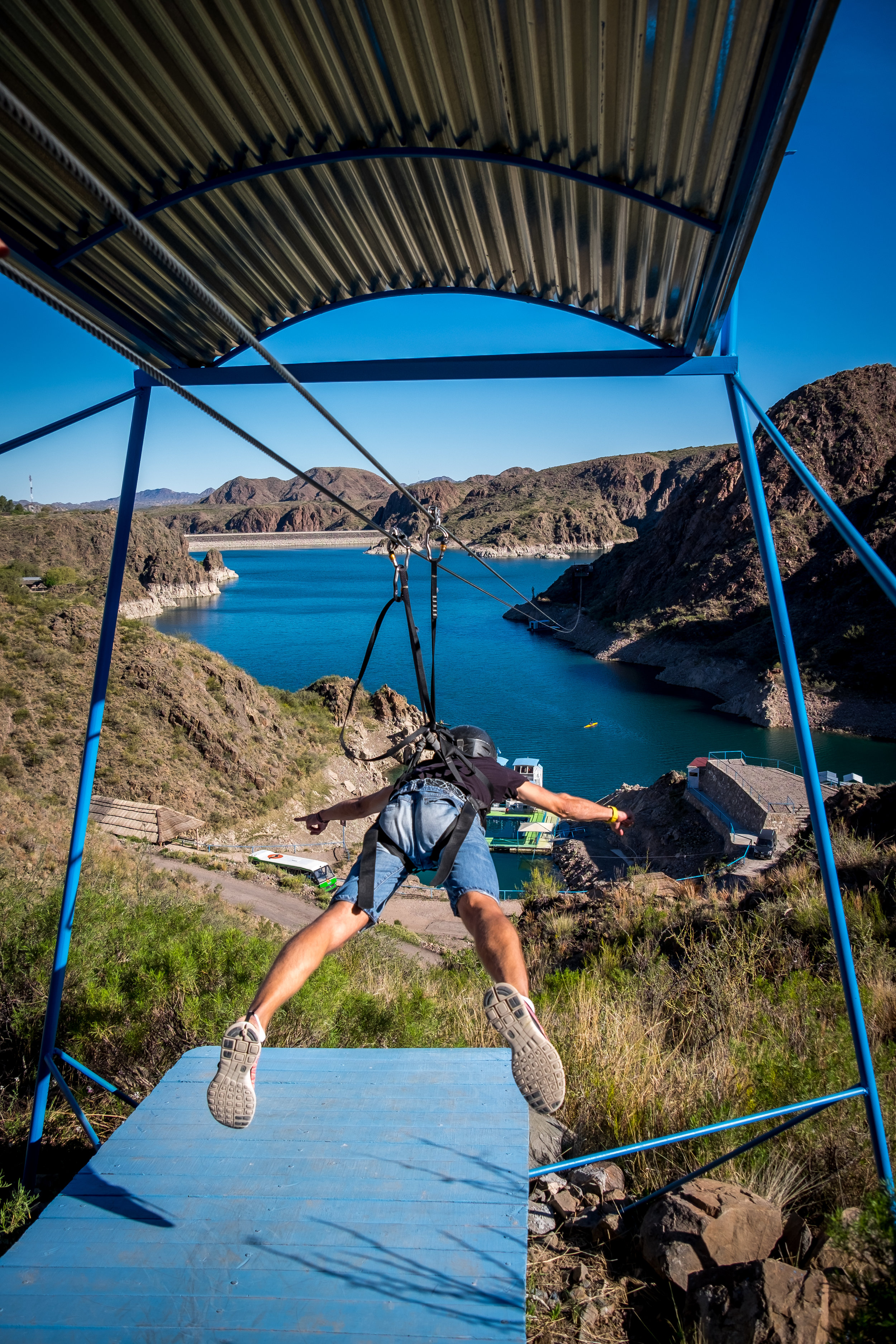 Zip Wire at Los Reyunos Dam