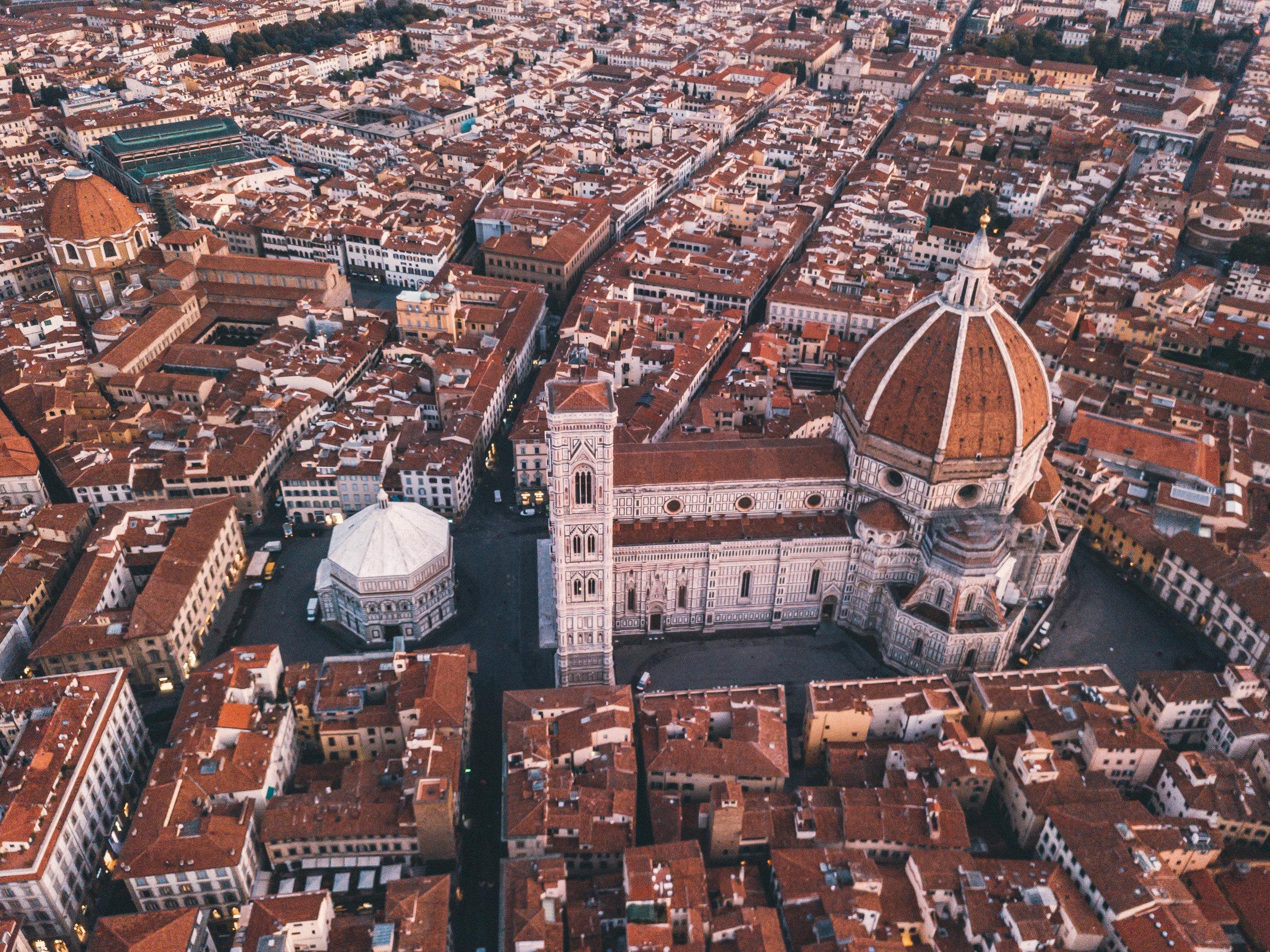 From above, Duomo, Basilica di Santa Maria del Fiore