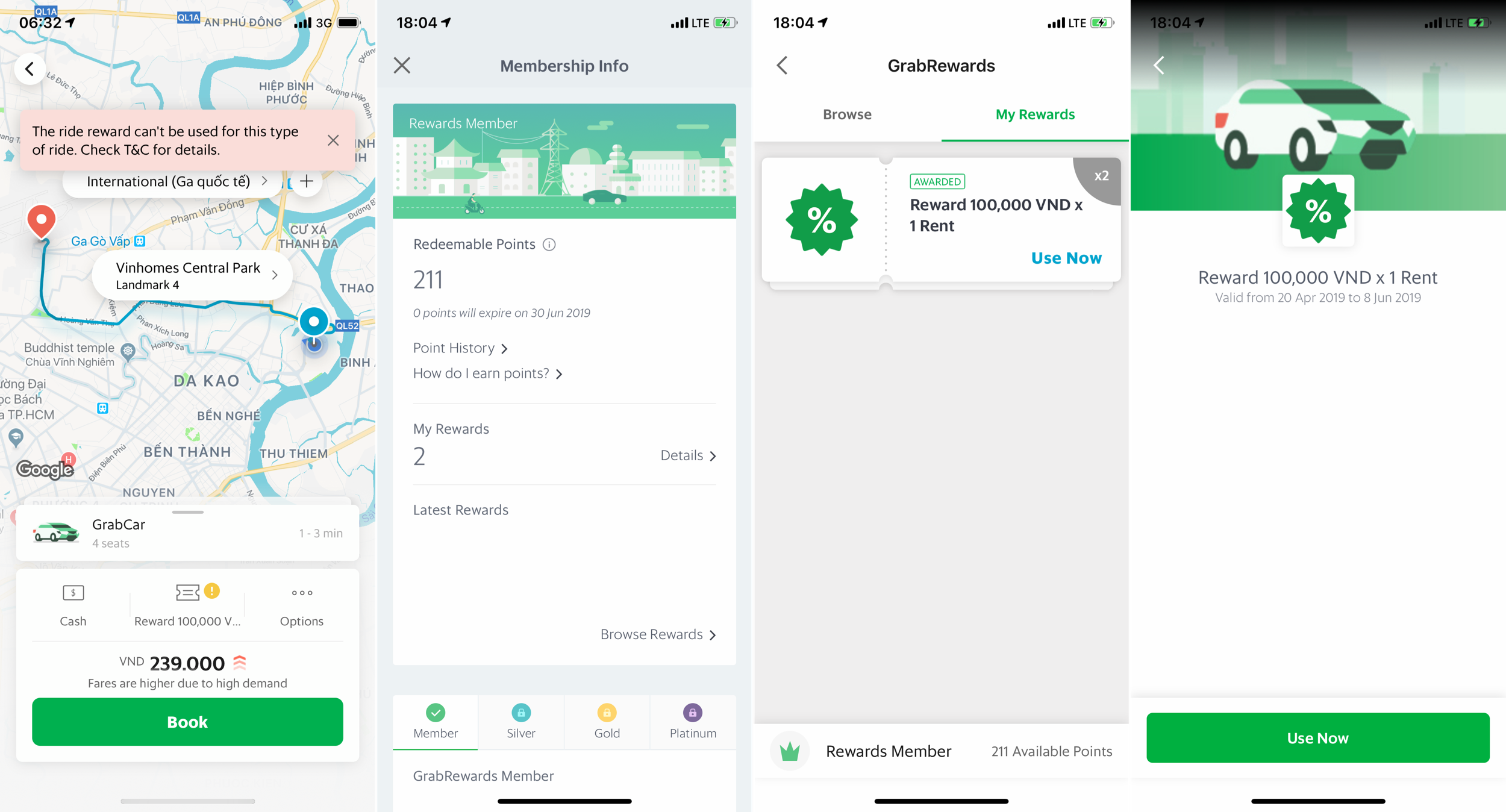Grab app on iOS with free rewards.