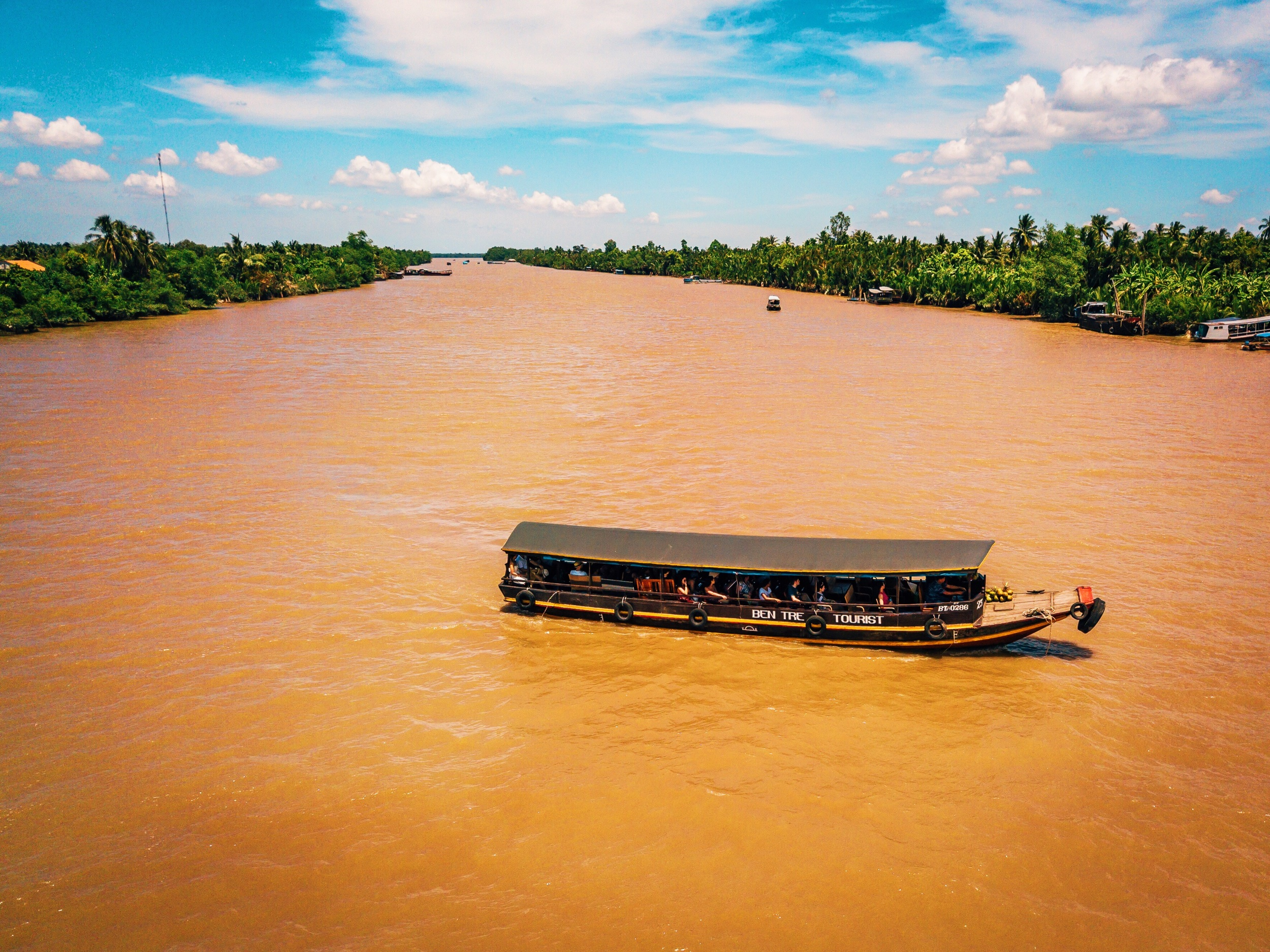 Tourist boat at the Mekong Delta