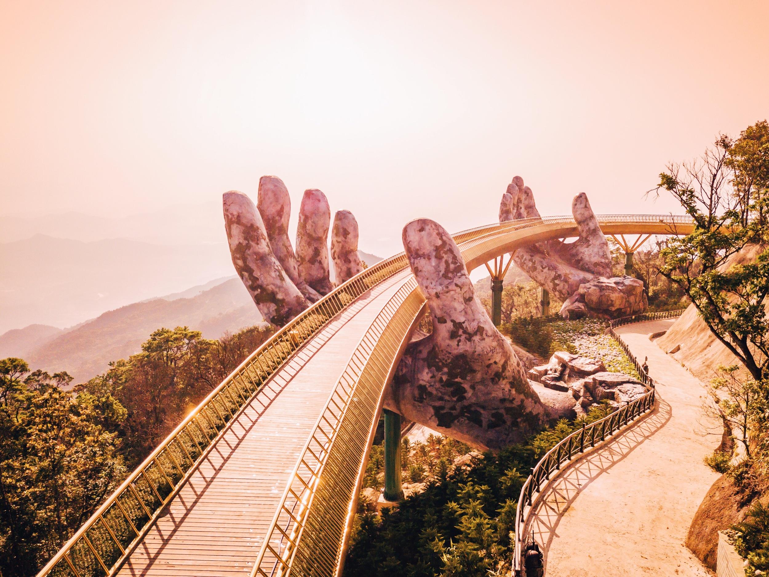 Hands of God, Golden Bridge, Cầu Vàng, Da Nang