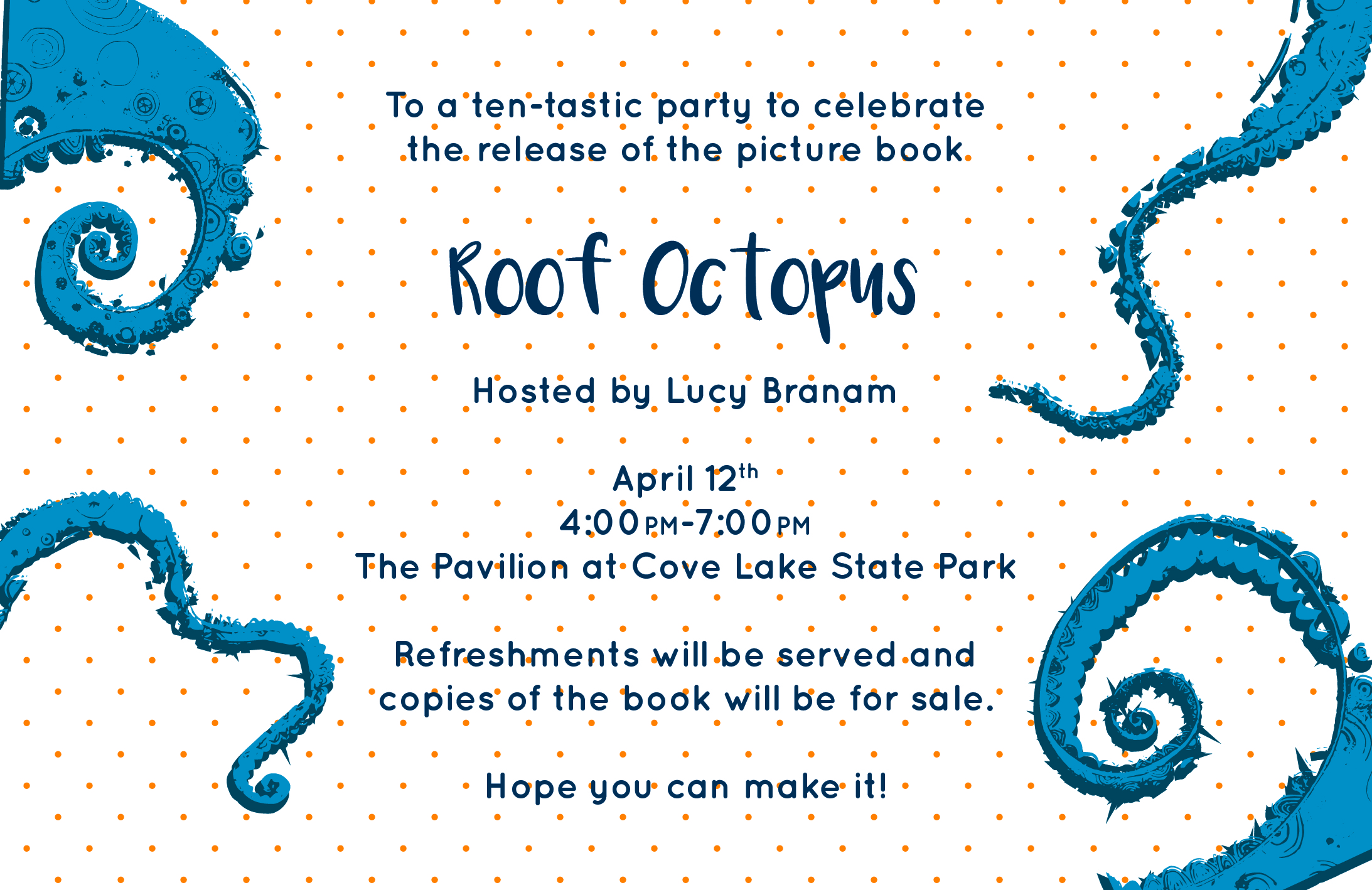 Book Release Party Invitation (Back)