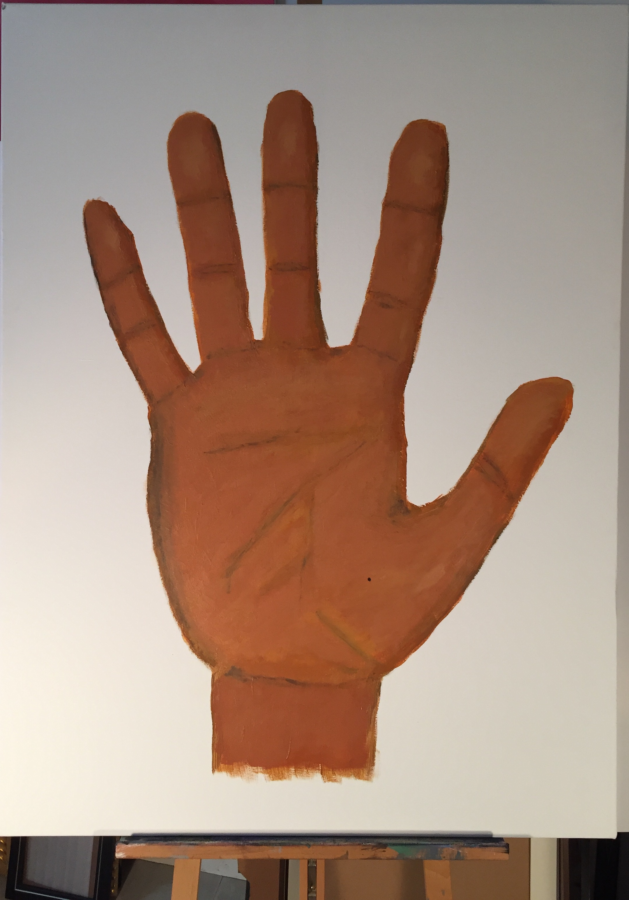 A Portrait Of The Artist As A Gigantic Hand,  2015 Acrylic on canvas 48 x 36 inches