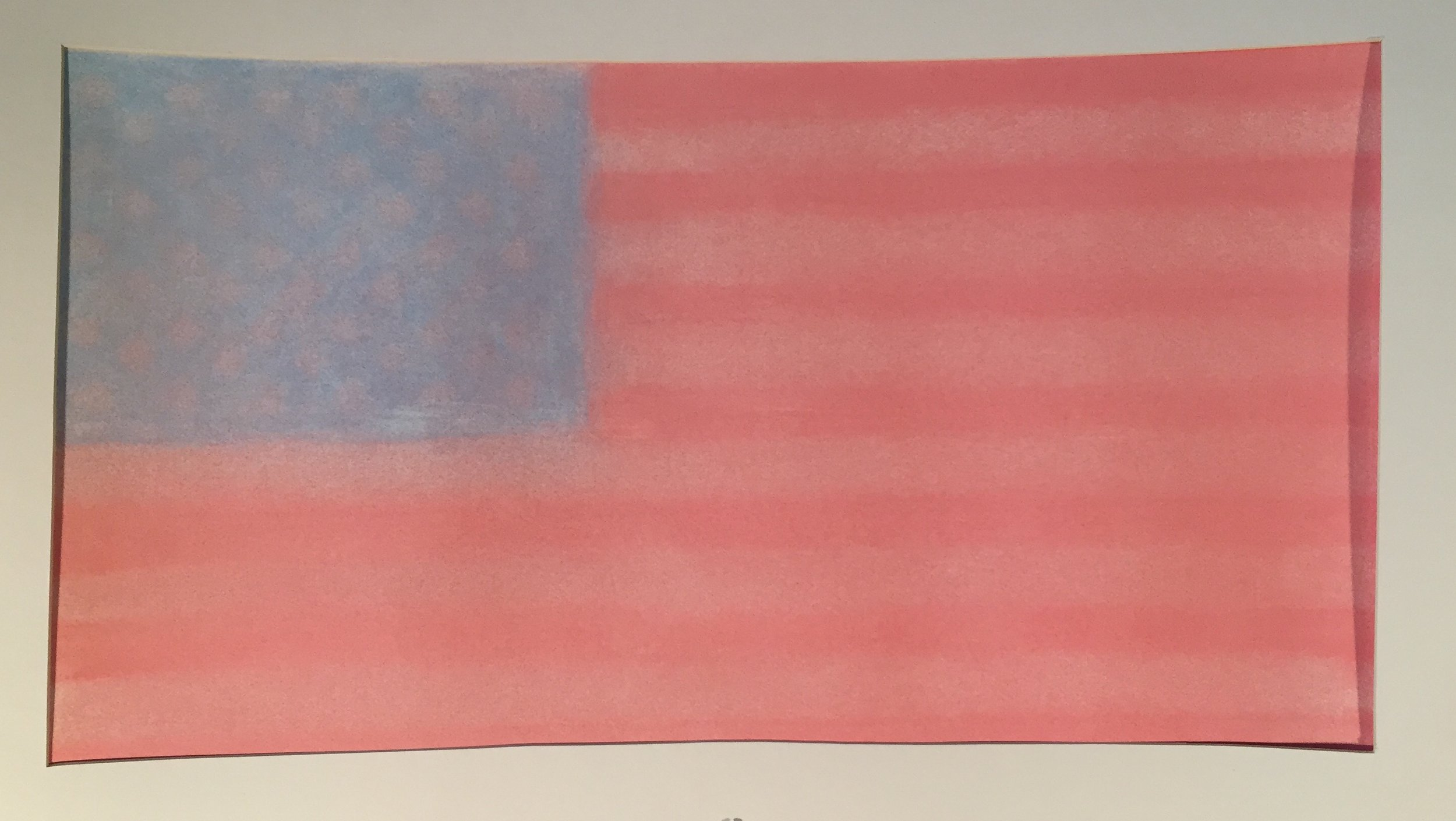 American Flag, 11/8/16,  2016 Chalk on paper 14 x 24 inches