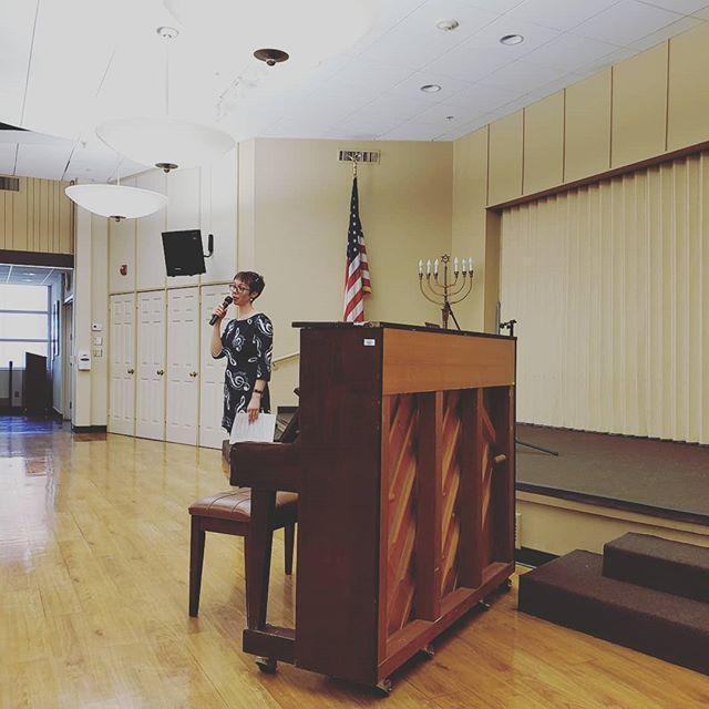 One more from today's recital! This is me (Laura) announcing the next performer. #KivelCampusOfCare #musicrecital #musicshirt #pianorecital #voicerecital #vocalrecital #guitarrecital #asoundagency