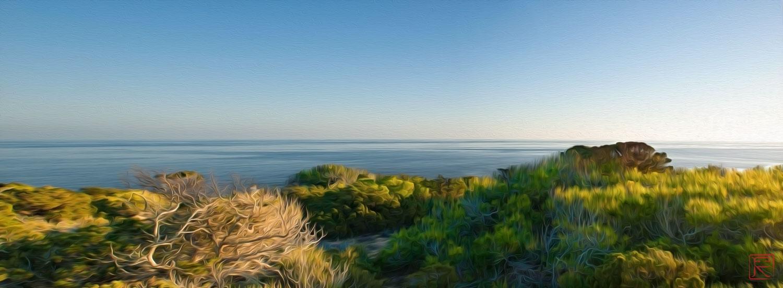 Winter Mediterranean Sea. Formentera Island.