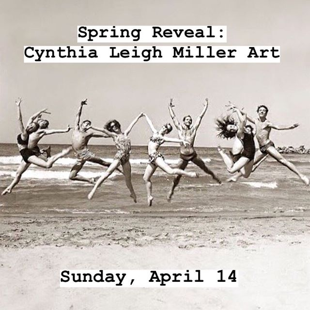 SAVE THE DATE. ❤️ . Please join me for a fun Spring Reveal of my latest paintings on a Sunday afternoon (April 14, 2 to 4:30 pm) to preview what's to come for my summer solo show! Full event details in profile link.