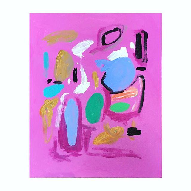 This set tho... ❤️ . . . . . . #cynthialeighmillerart #houstonartist #instart #largepaintings #commissionedart #femaleartist #happyart #artcollector #abstractart #abstractartist #acrylicart #contemporaryart #paintingoftheday #artforbreakfast #happyartist #lovewhatyoudo #springpainting #hotpinkpaint #redaccents #peony #pinkpaint #smallpainting #funart
