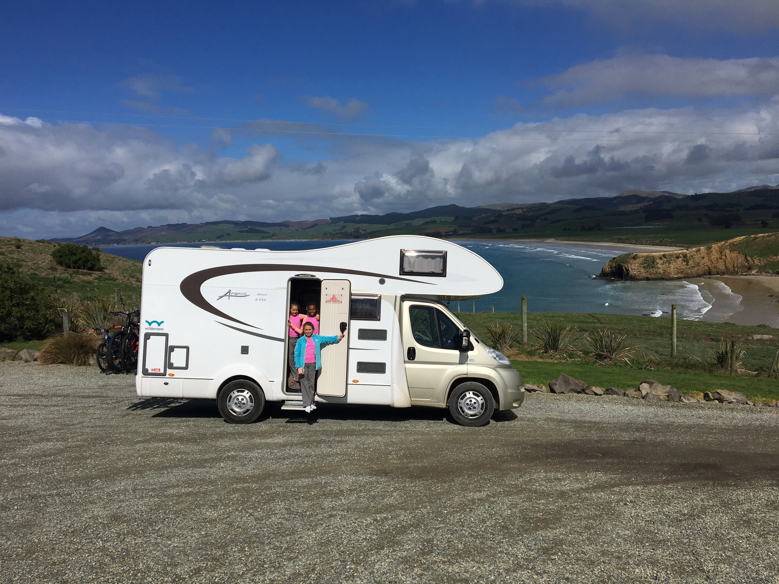 "Our mobile ""home"" for two weeks during our road trip their the beautiful south island of New Zealand. Sleeps 5, carries 4 bicycles, and makes for some very funny memories living in such tight quarters."