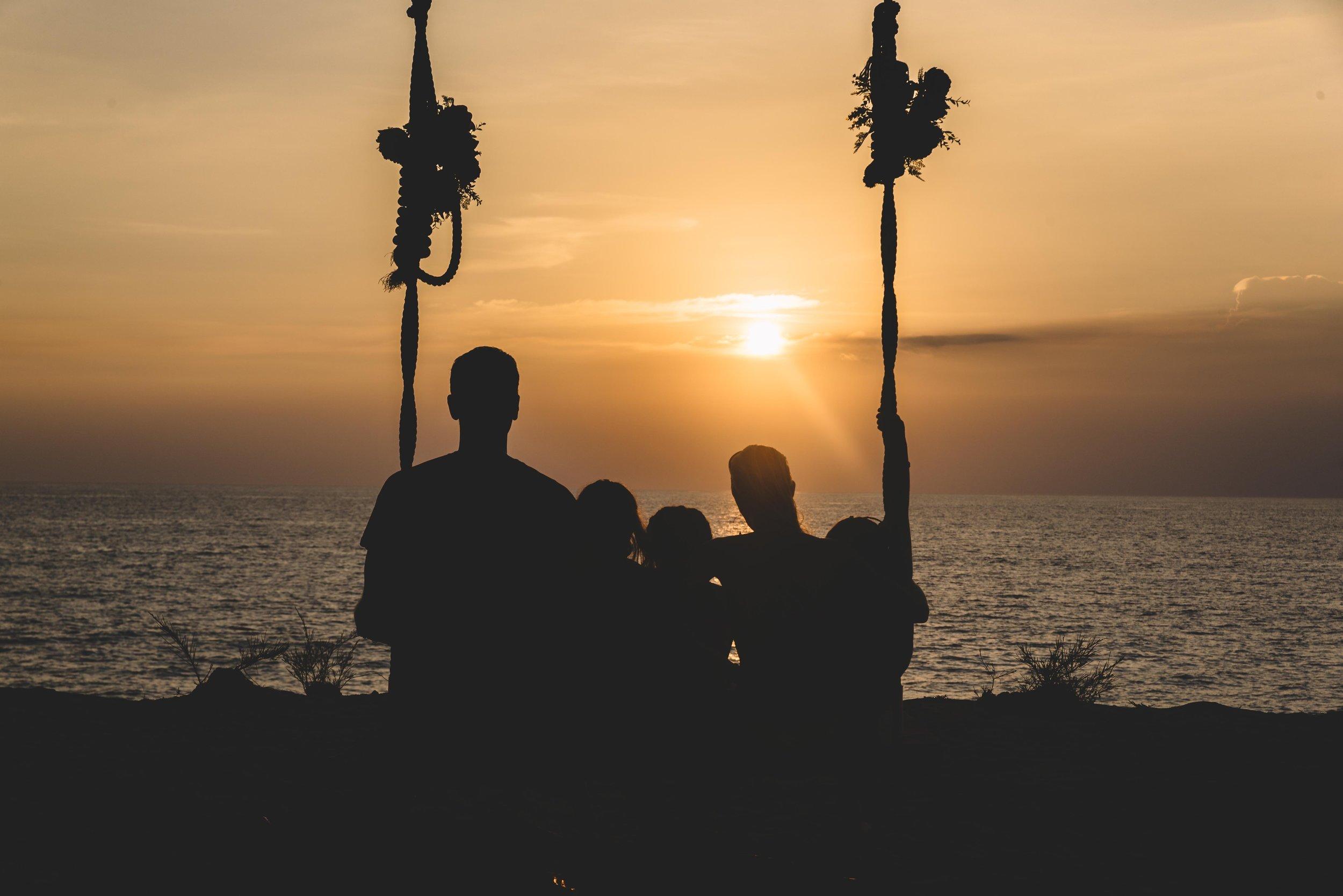 Enjoying the beautiful sunset in Phuket, Thailand.