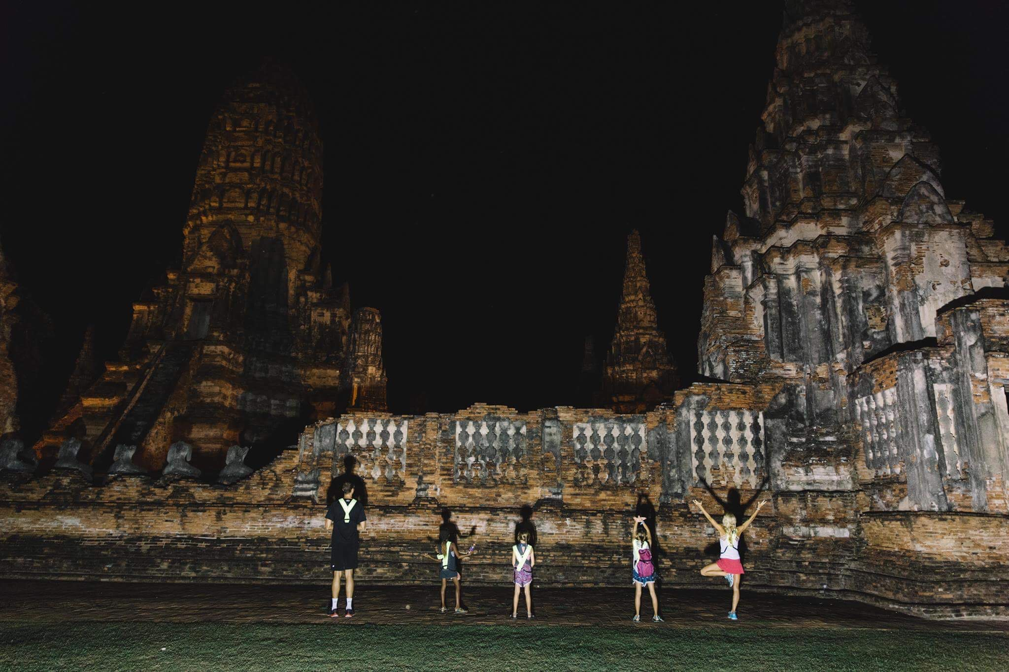 Exploring the ancient temples of the former capital of Thailand in Ayutthaya. This night time bicycle ride led us to some of the most impressive and oldest temples in the country.