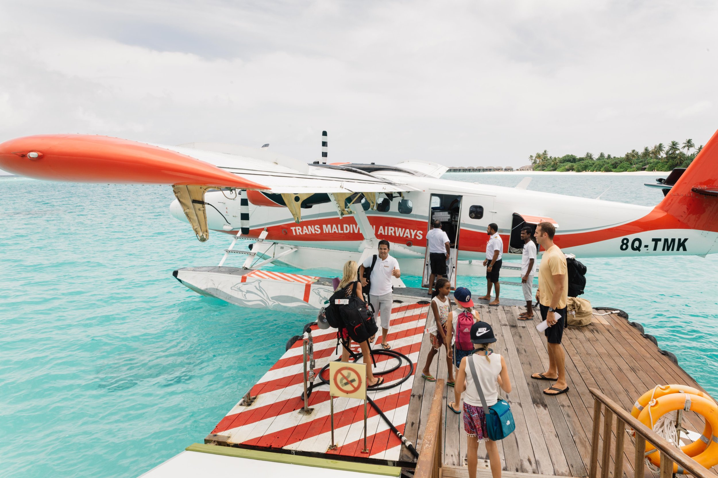 By far, the most adventurous and fun mode of transportation we had during our journey. This seaplane ride from Male to the Noonu atoll in Maldives, was an experience we will not soon forget. The views were beyond spectacular but we could have done without the few pop-up thunderstorms we encountered on our approach to landing in the water at our resort. Trans Maldivian Airlines could be our new favorite airline. Where else will you find a barefoot pilot?