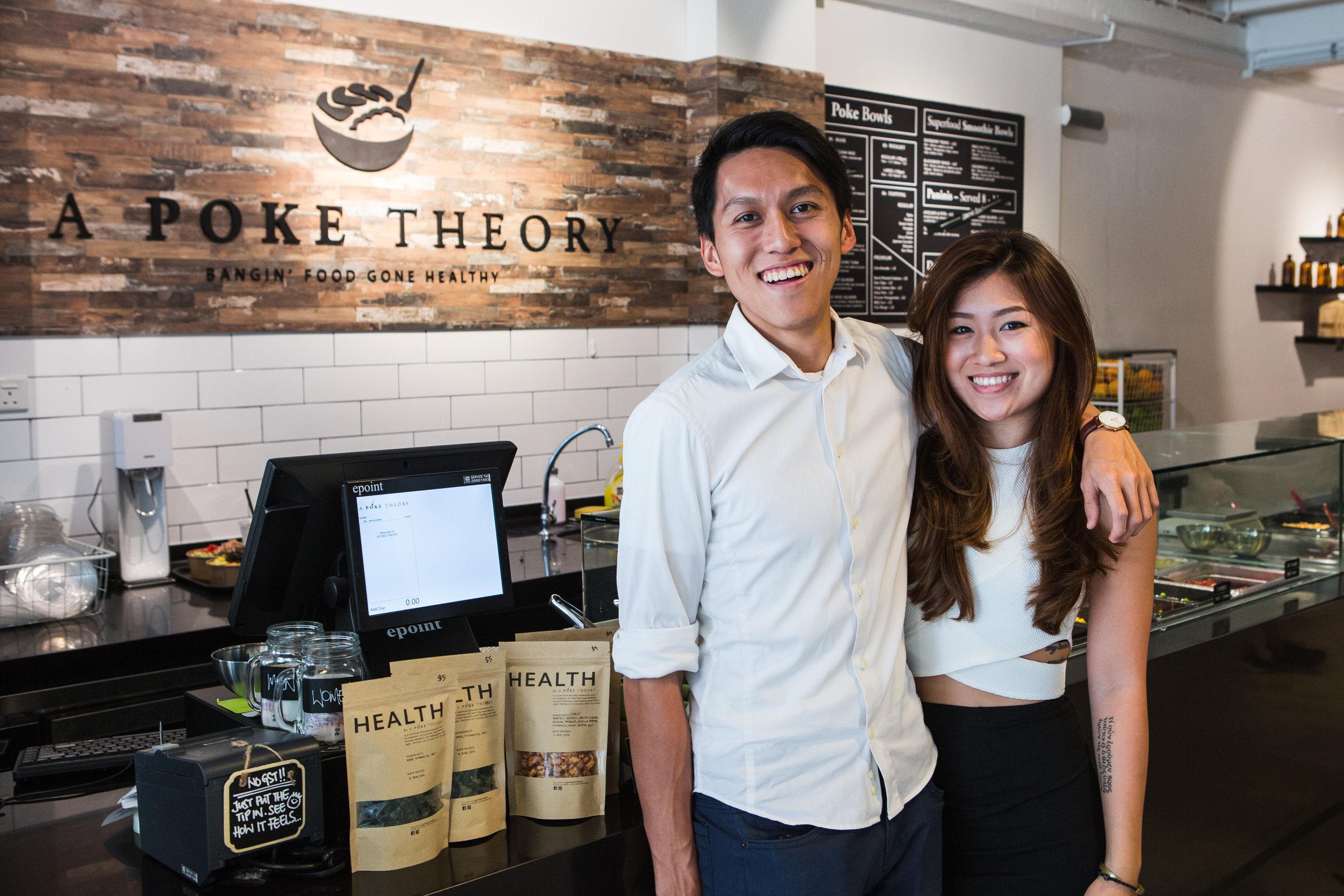 Poke Theory founders & sibling duo, Joey & Vannessa Lee.