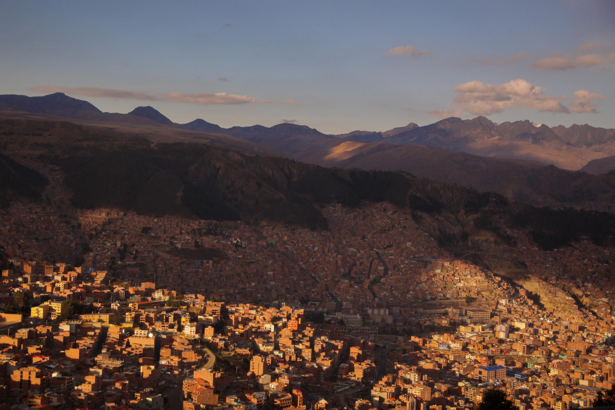 On the main road into La Paz