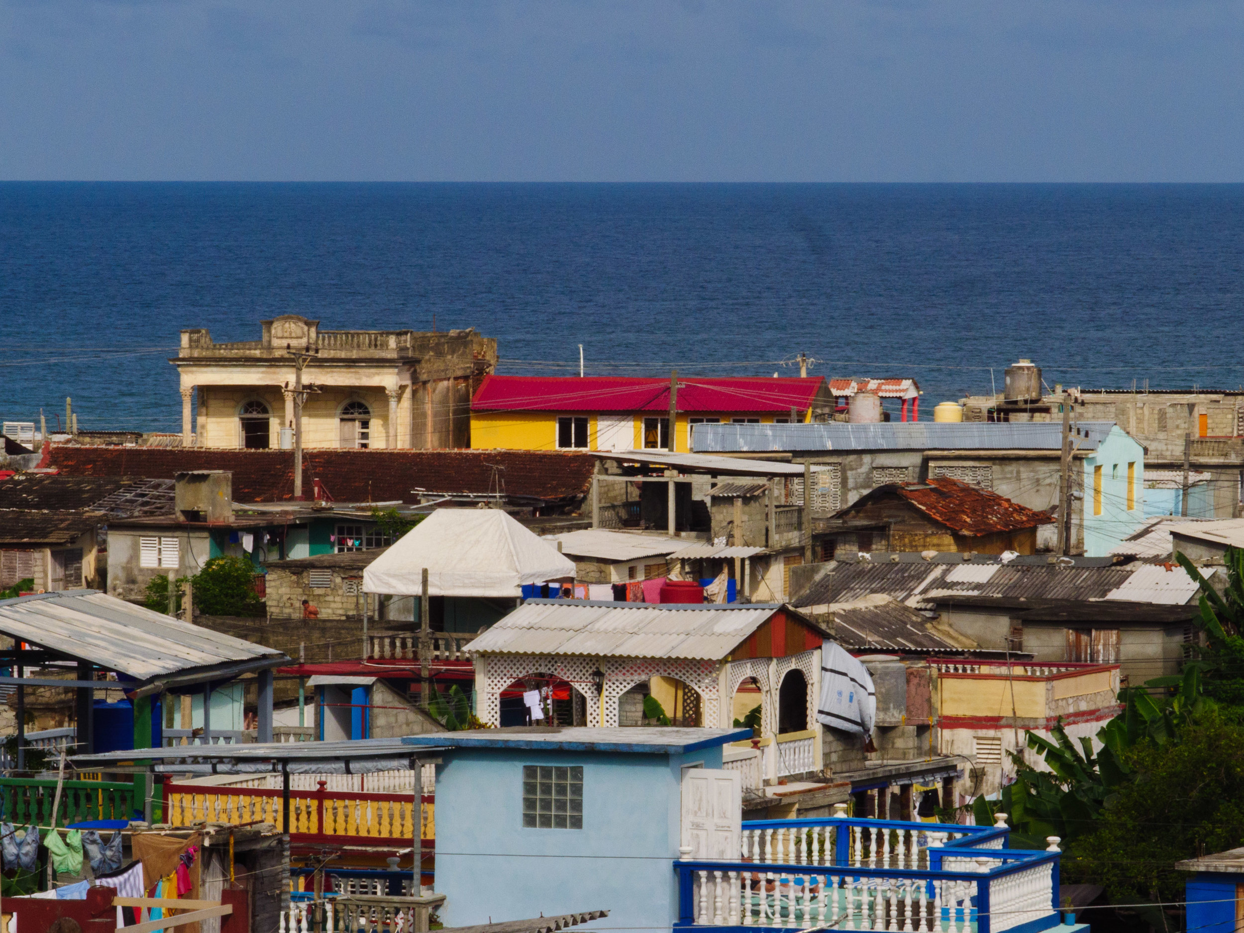 Baracoa from the roof of our Casa