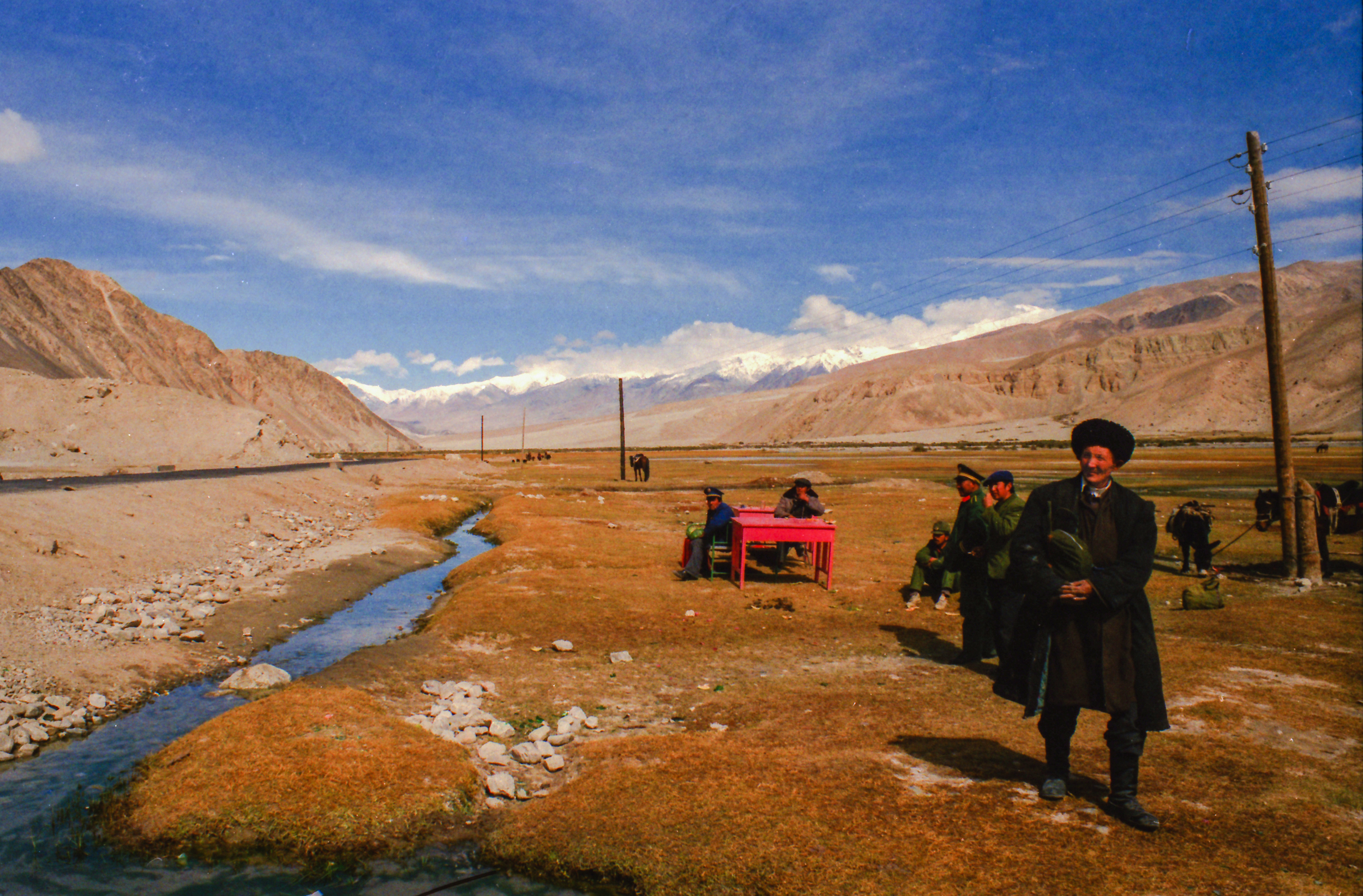 On the road from Pakistan near the Khunjerab Pass, on the Chinese side