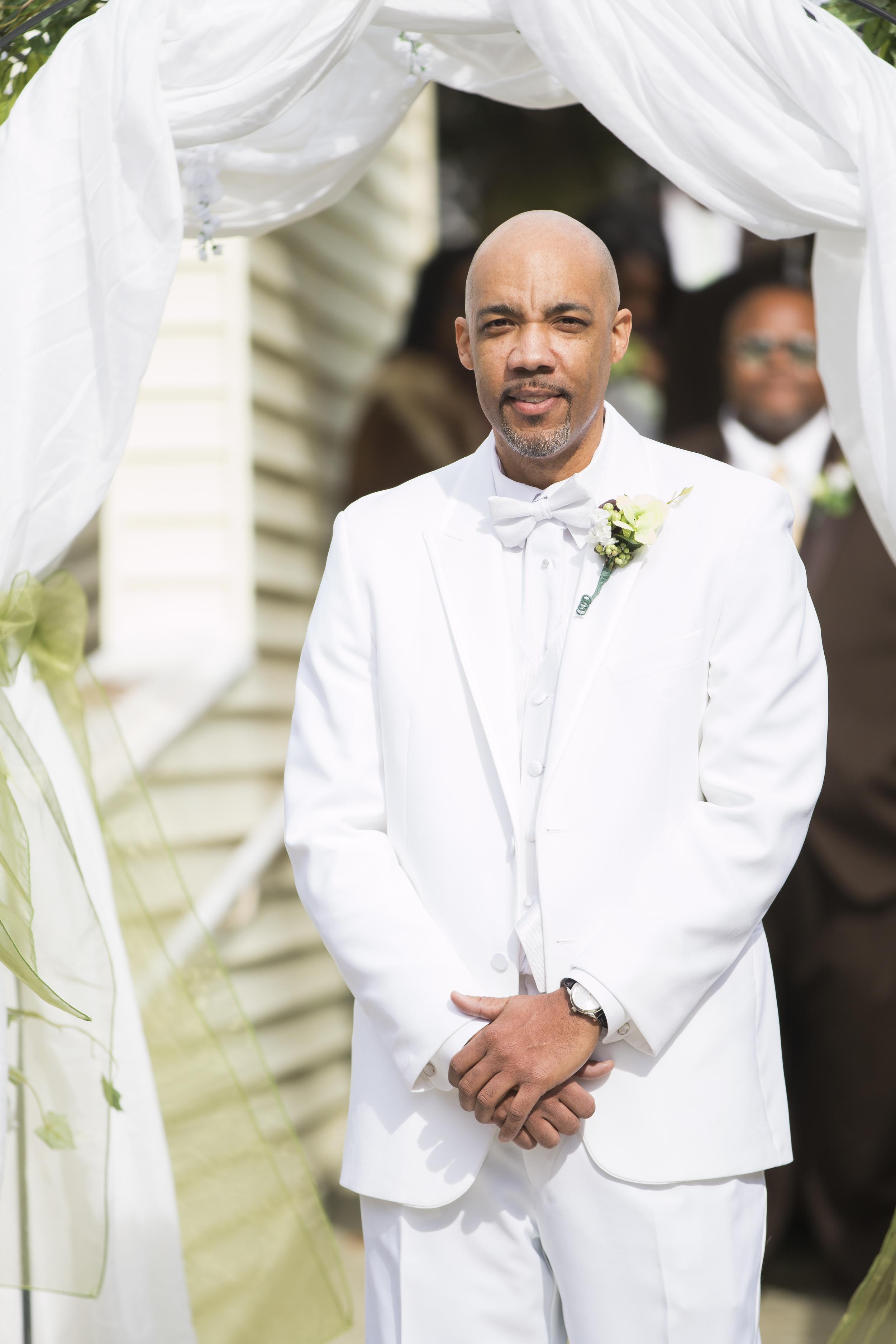 Groom at Wedding in Garner, NC