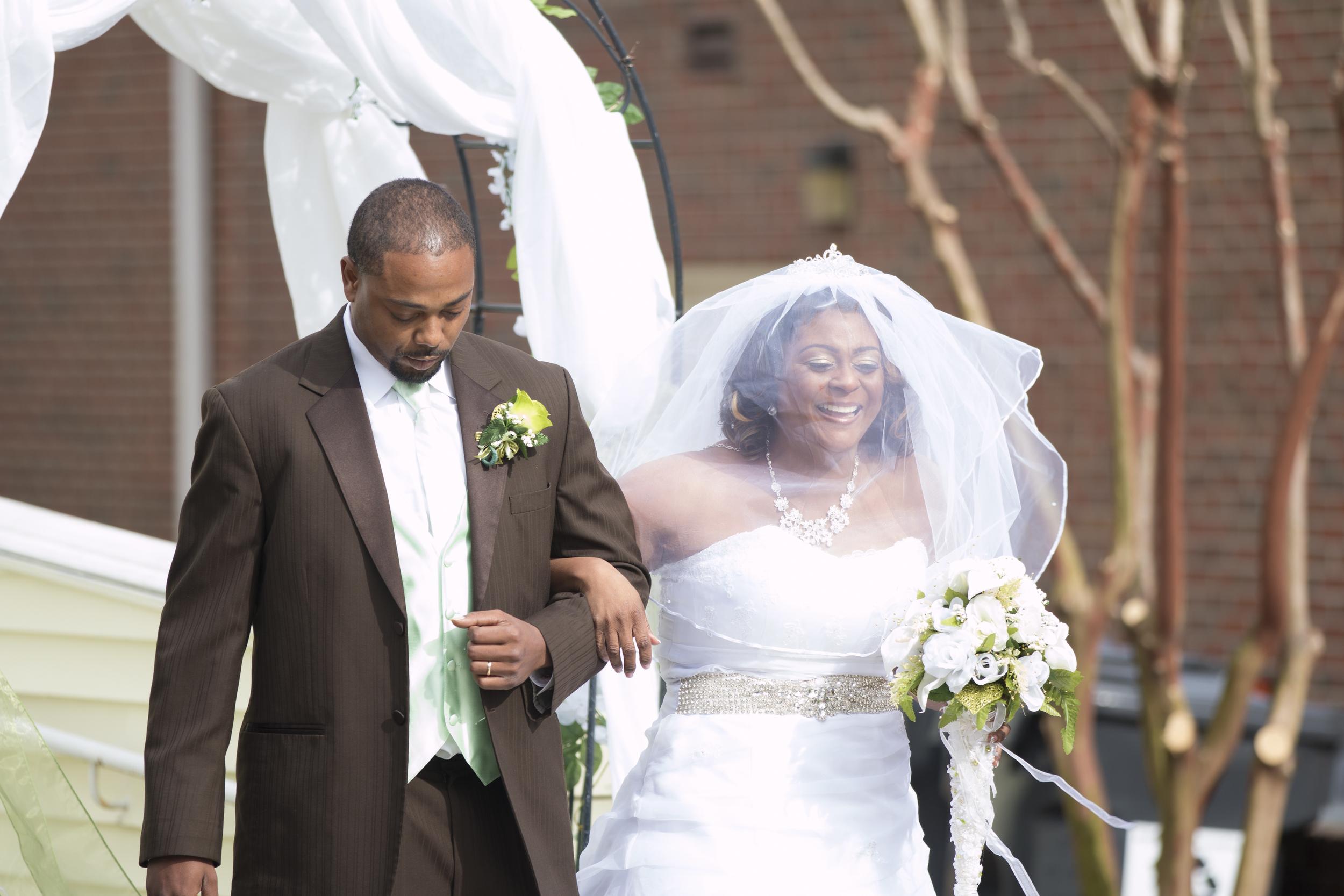 Happy Bride at Wedding in Garner, NC