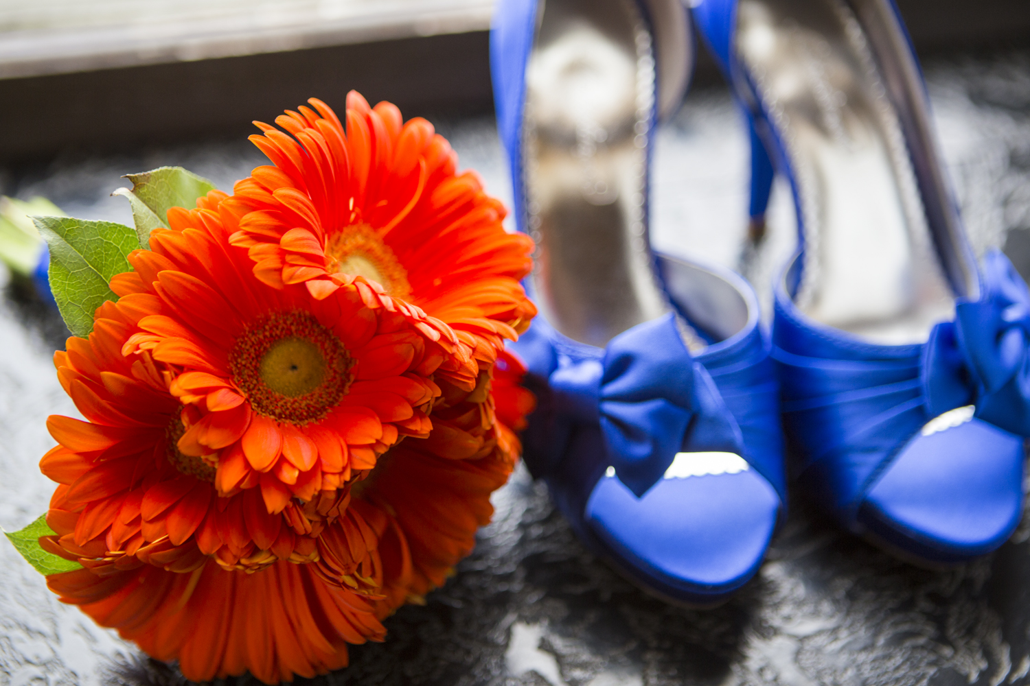 Wedding Photographer in Greensboro - Shoes and Flowers