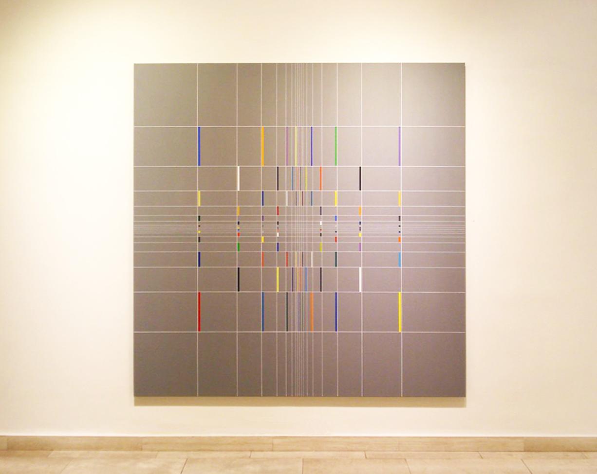 Yantra-ipsum-līlā 2012, acrylic on canvas, 180x180cm, 2012-Galerie Leonhard, Graz