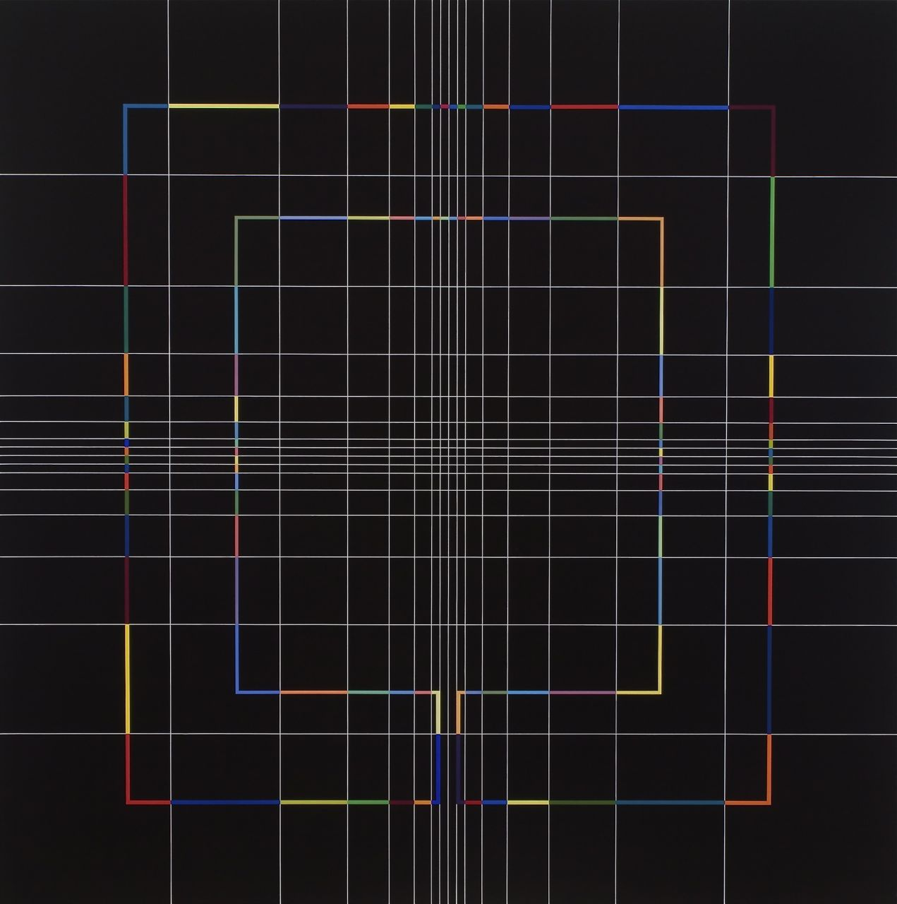 Yantra-ipsum(2)2009.Sep, acrylic on canvas, 53 3/16 x 53 3/16 in.[135x135cm]