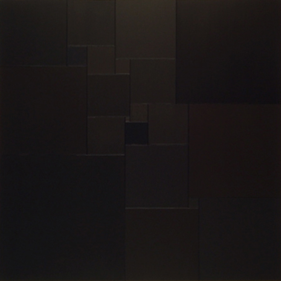 Homage to Malevich by 1+21 squares [20170503], 2017, acrylic, on canvas, 29 1/2 x 29 1/2 in. [75x75cm]