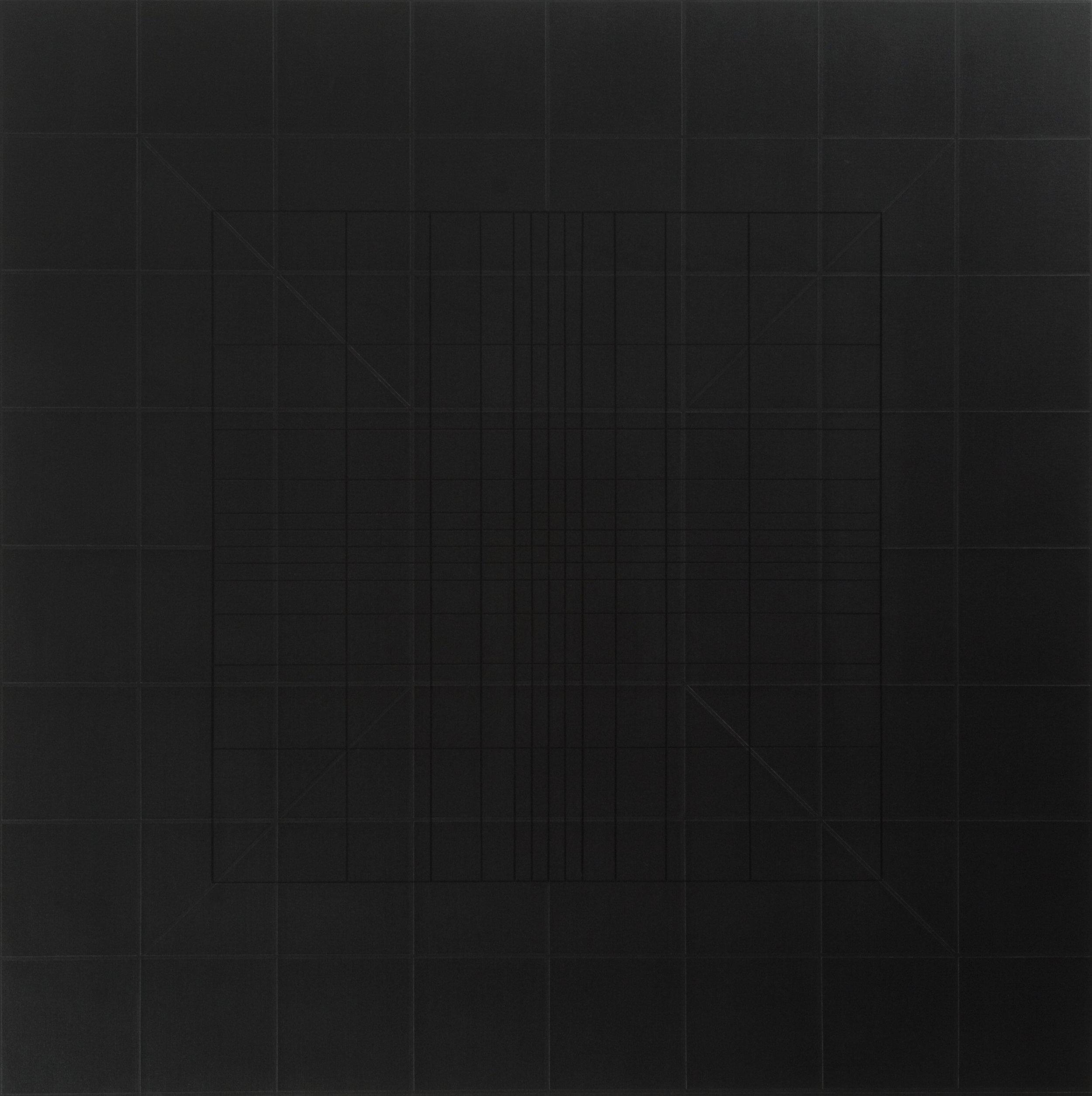 Yantra-ipsum-arkhē(1)2011.Feb, acrylic on canvas, 35 7/16 x 35 7/16 in. [90x90cm]