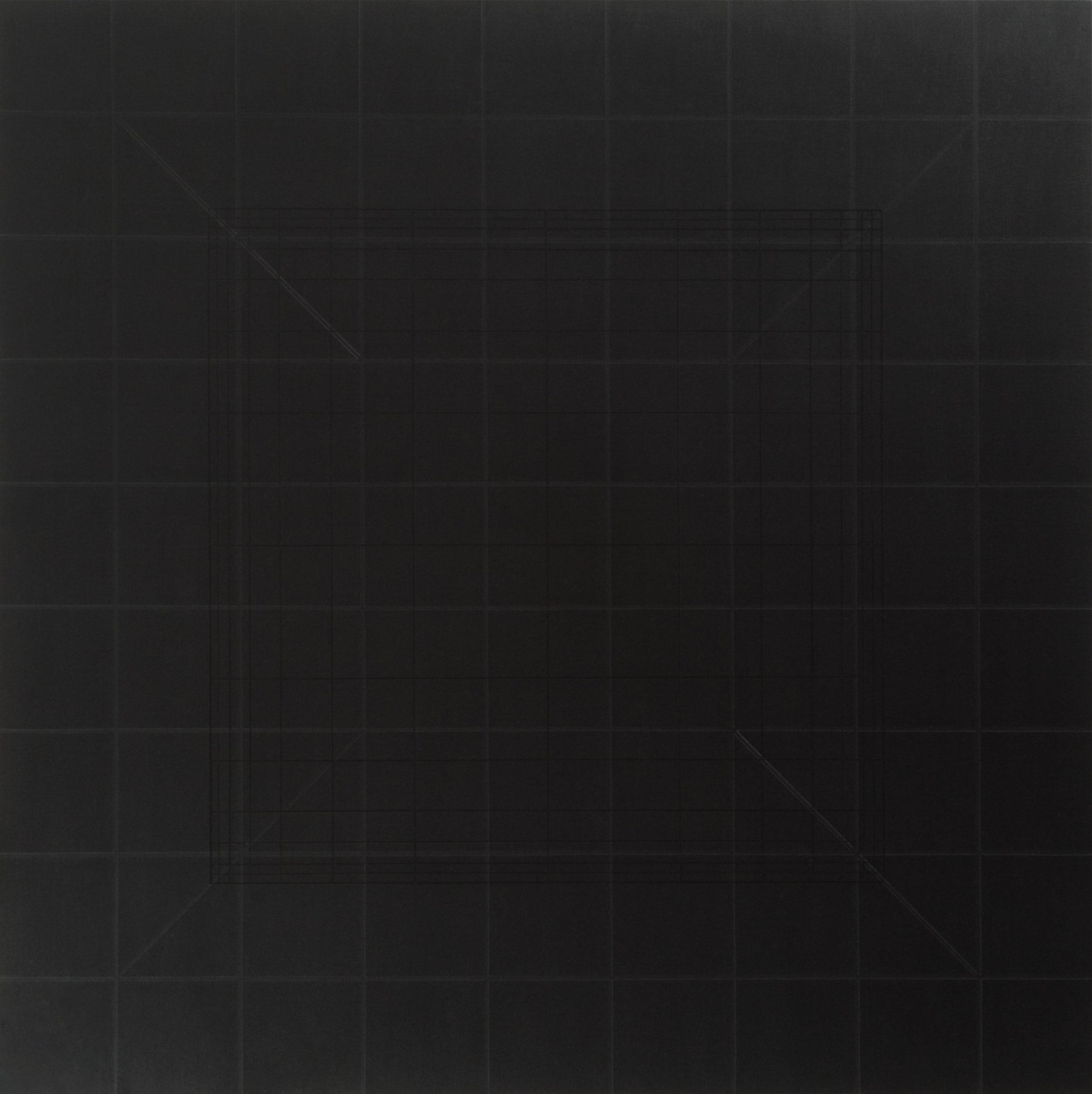 Yantra-ipsum-arkhē(2)2011.Feb, acrylic on canvas, 35 7/16 x 35 7/16 in. [90x90cm]