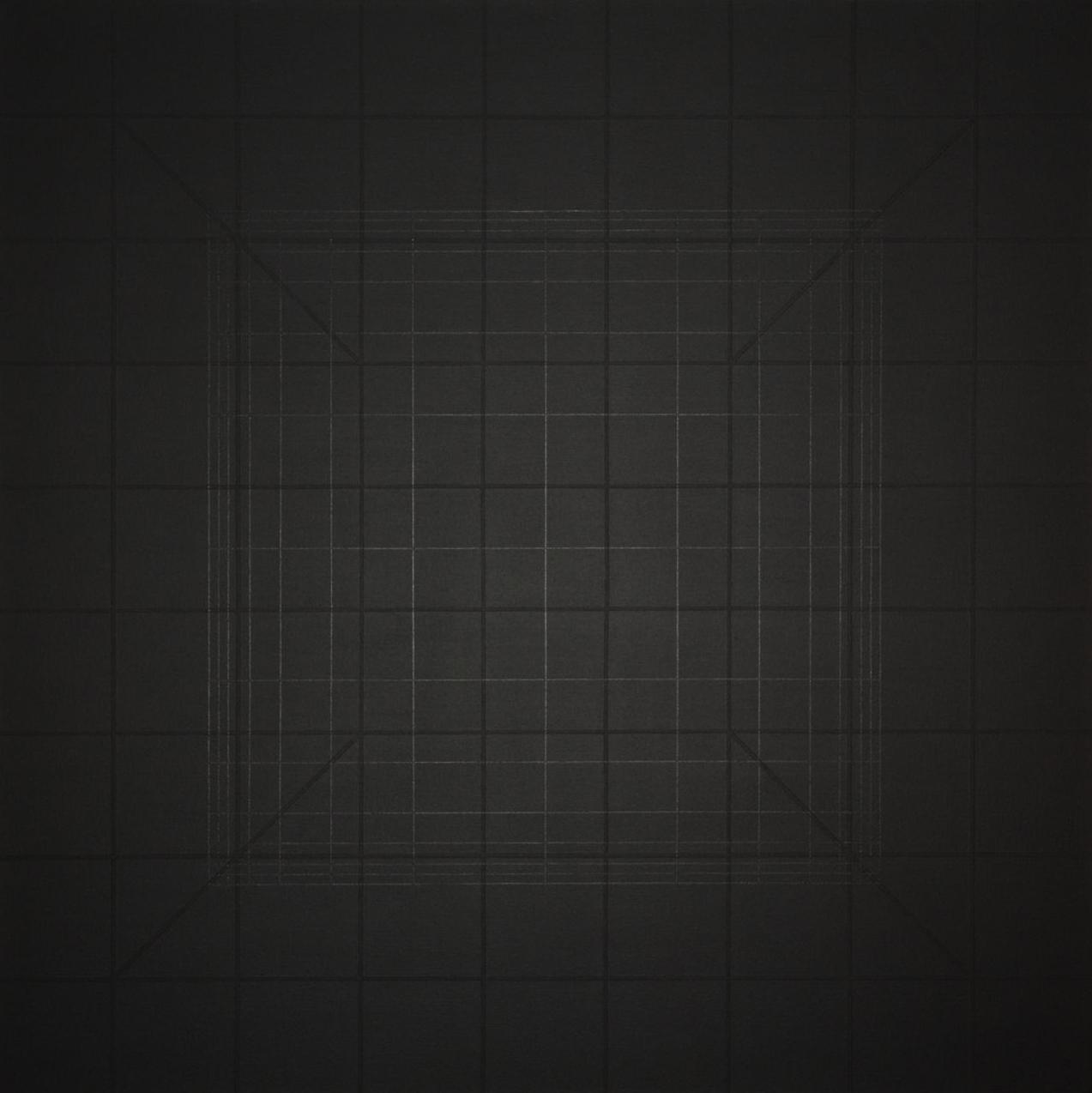 Yantra-ipsum-arkhē(2)2011.Feb, acrylic on canvas, 35 7/16 x 35 7/16 in. [90x90cm]-2