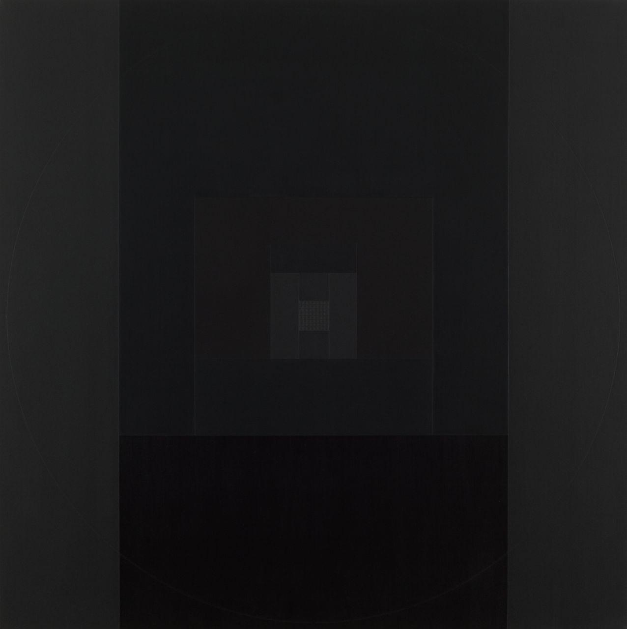 Yantra-ipsum-arkhē 2011.Jan, acrylic on canvas, 35 7/16 x 35 7/16 in. [90x90cm]