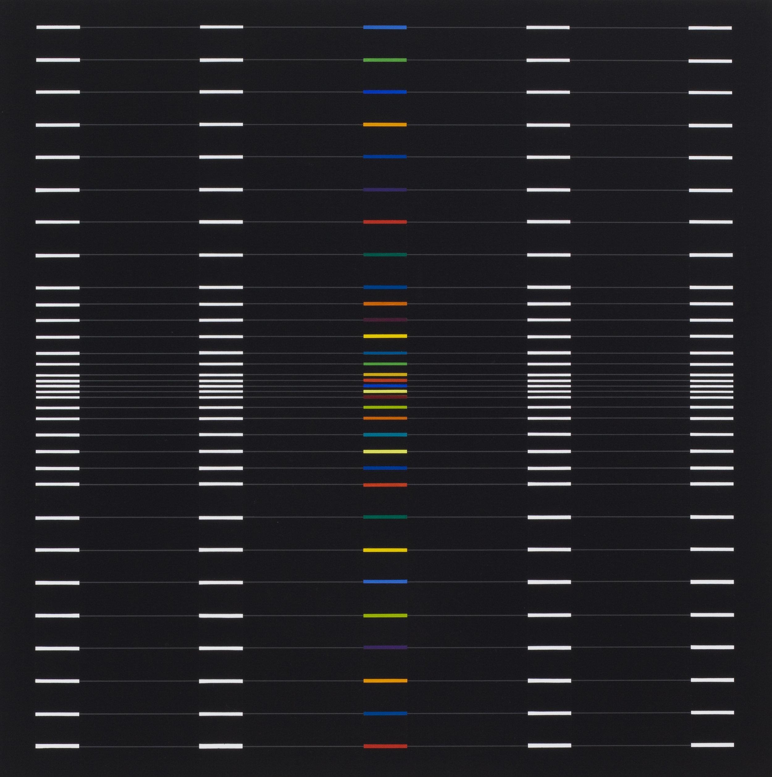Verticalis[Horizontalis]-2 2013 acrylic on canvas, 17 3/4 x 17 3/4 in. [45x45cm]
