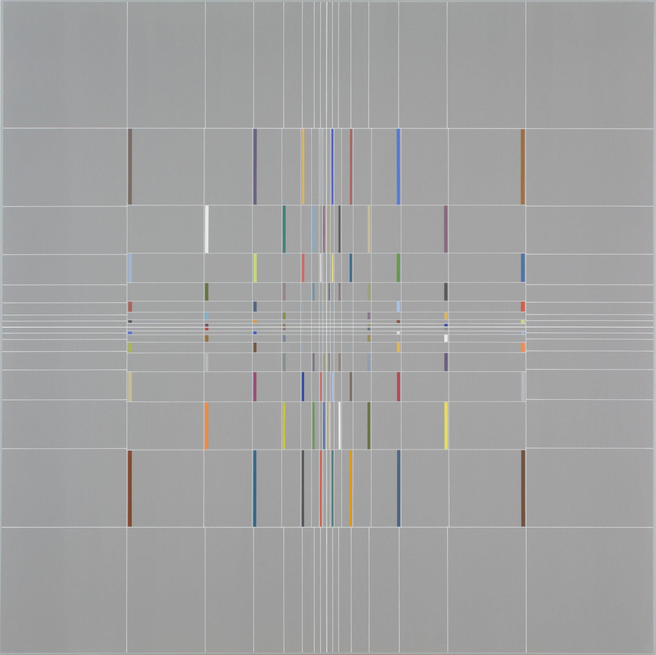 Yantra-ipsum-līlā(3)2013.Aug, acrylic on canvas, 35 7/16 x 35 7/16 in. [90x90cm]