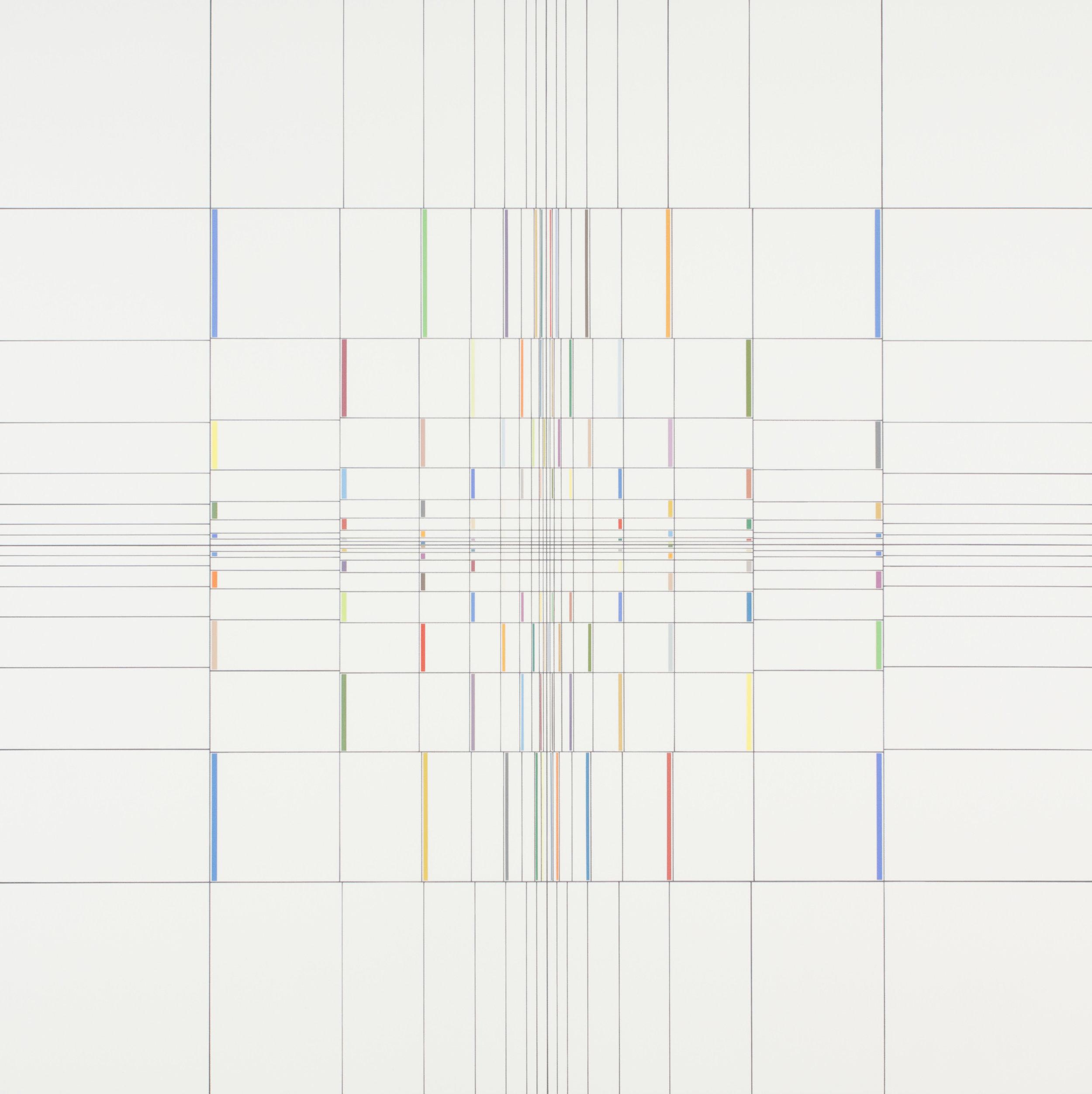 Yantra-ipsum-līlā(2)2013.Sep, acrylic on canvas, 35 7/16 x 35 7/16 in. [90x90cm]