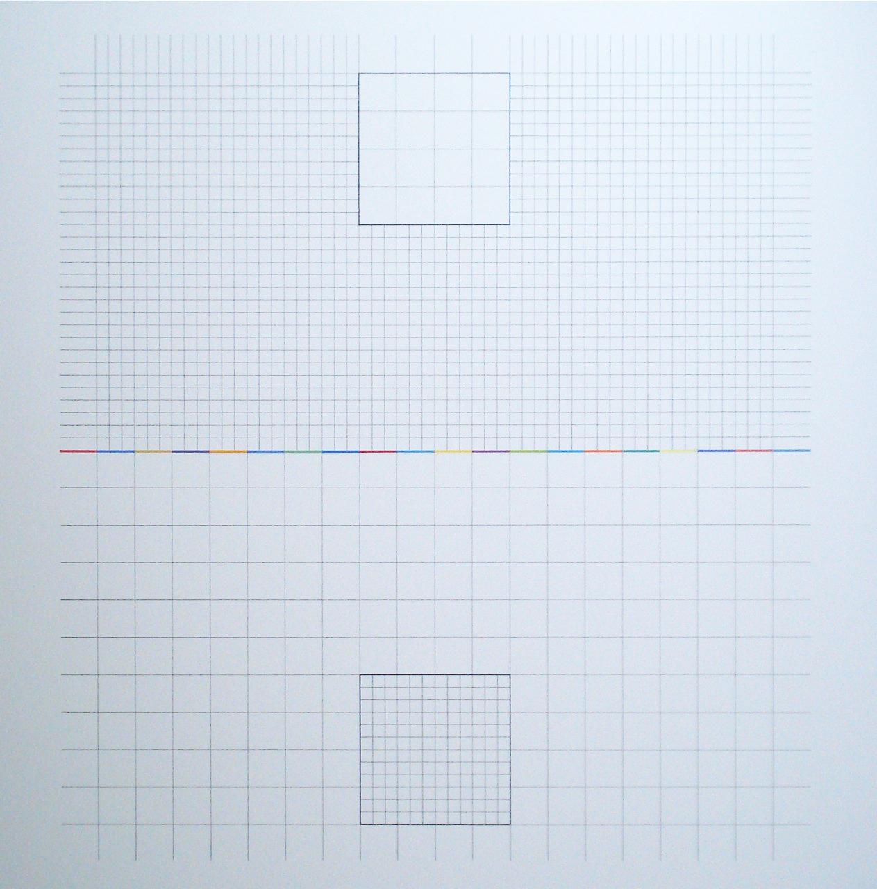 Yantra-ipsum-inversus(3)2013.Mar, acrylic on canvas, 35 7/16 x 35 7/16 in. [90x90cm]