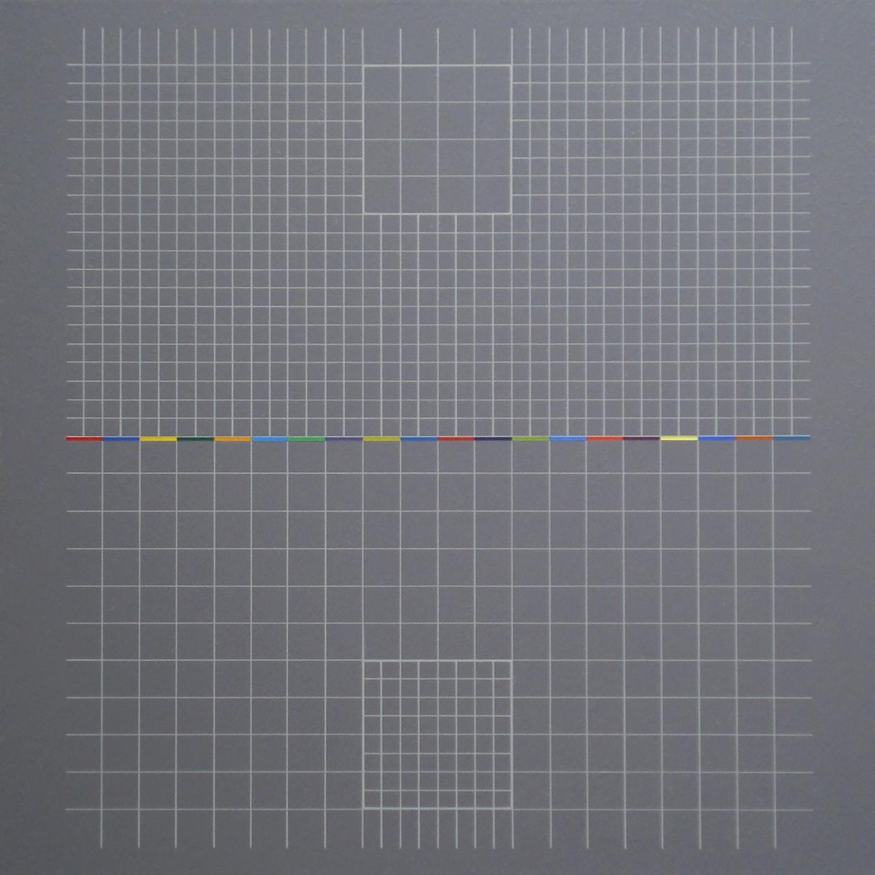 Yantra-ipsum-inversus(2)2013.Mar, acrylic on canvas, 17 3/4 x 17 3/4 in. [45x45cm]