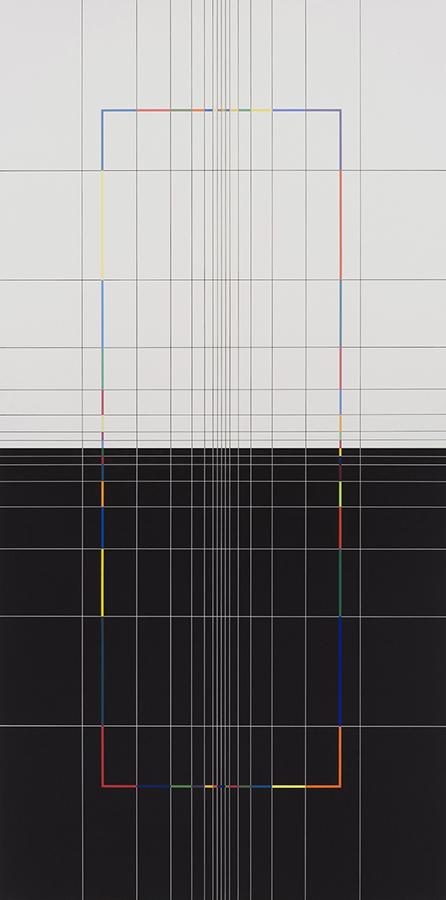 Yantra-Ipsum 2009, acrylic on canvas, 78 3/4 x 39 3/8 in. [200x100cm]
