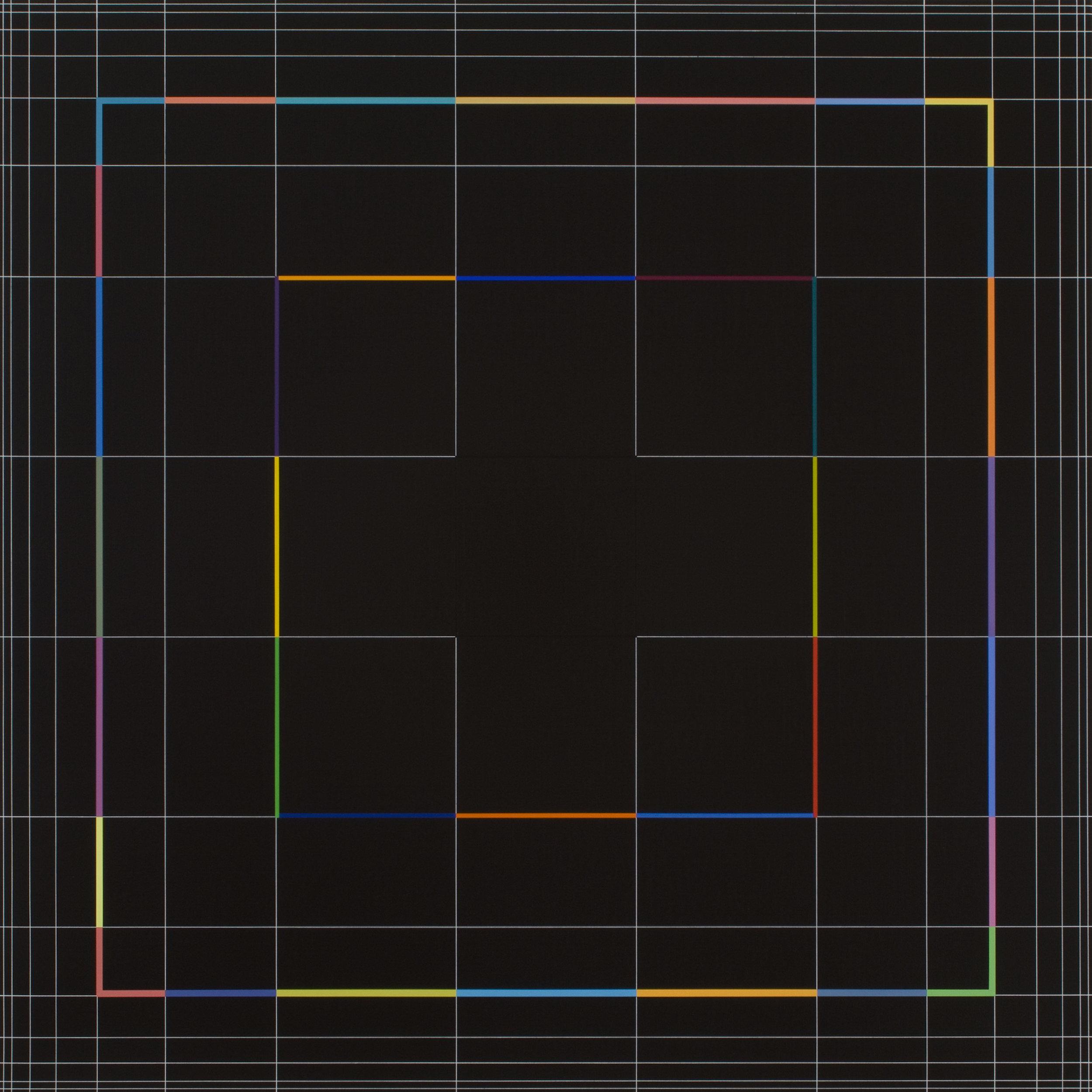Yantra-ipsum(1)2012.Oct, acrylic on canvas, 35 7/16 x 35 7/16 in. [90x90cm]