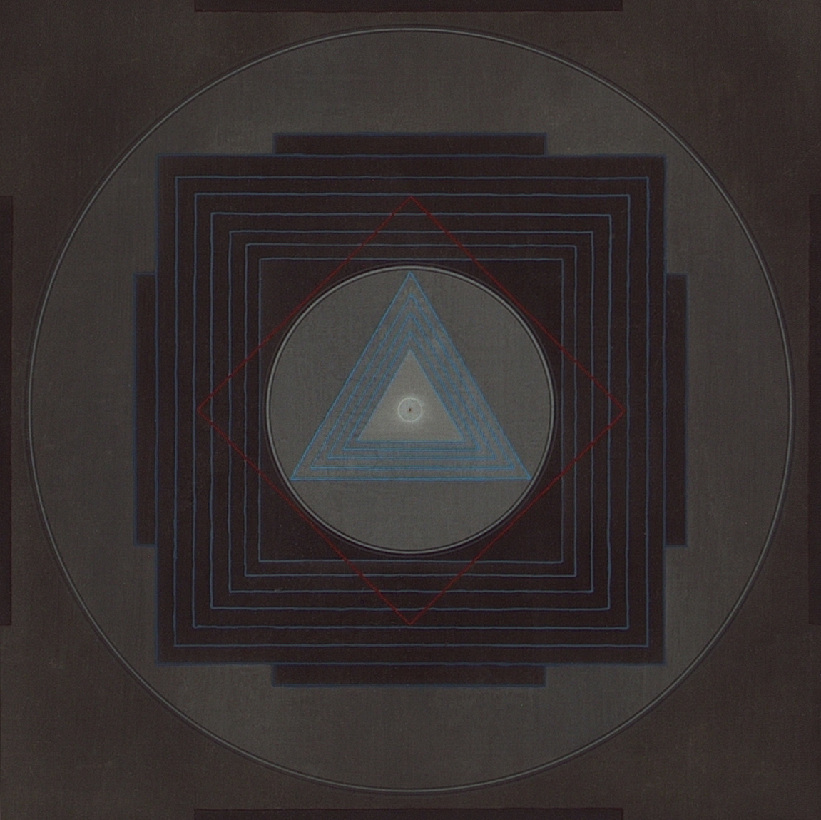 Yantra-ipsum-ipsum(2) 1998, acrylic, on wood, 11 13/16 x 11 13/16 in. [30x30cm]