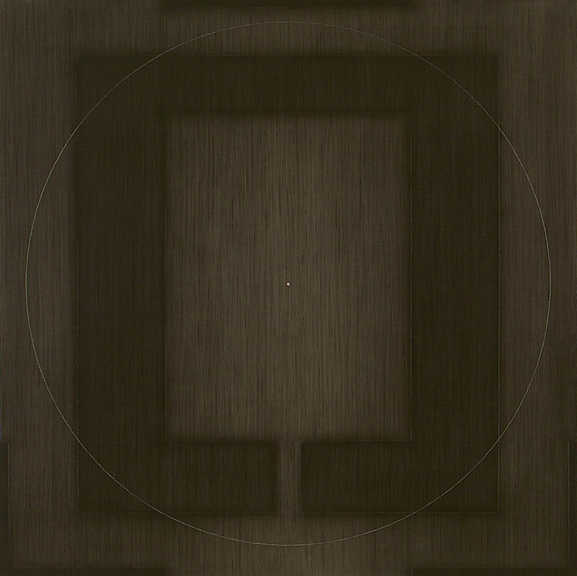 Yantra-ipsum(1) 2001, acrylic, oil on canvas, 31 1/2 x 31 1/2 in. [80x80cm]
