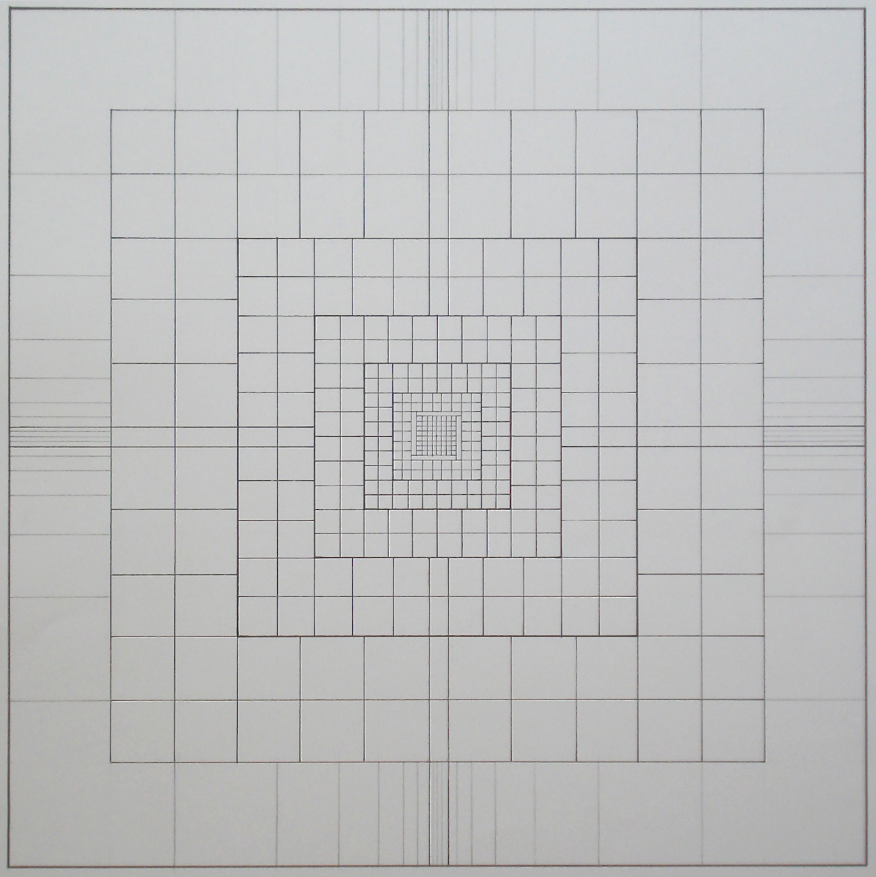 Yantra-ipsum-creator-structure, 2013, graphite, ink, on paper 17 3/4 x 17 3/4 in. [45x45cm]