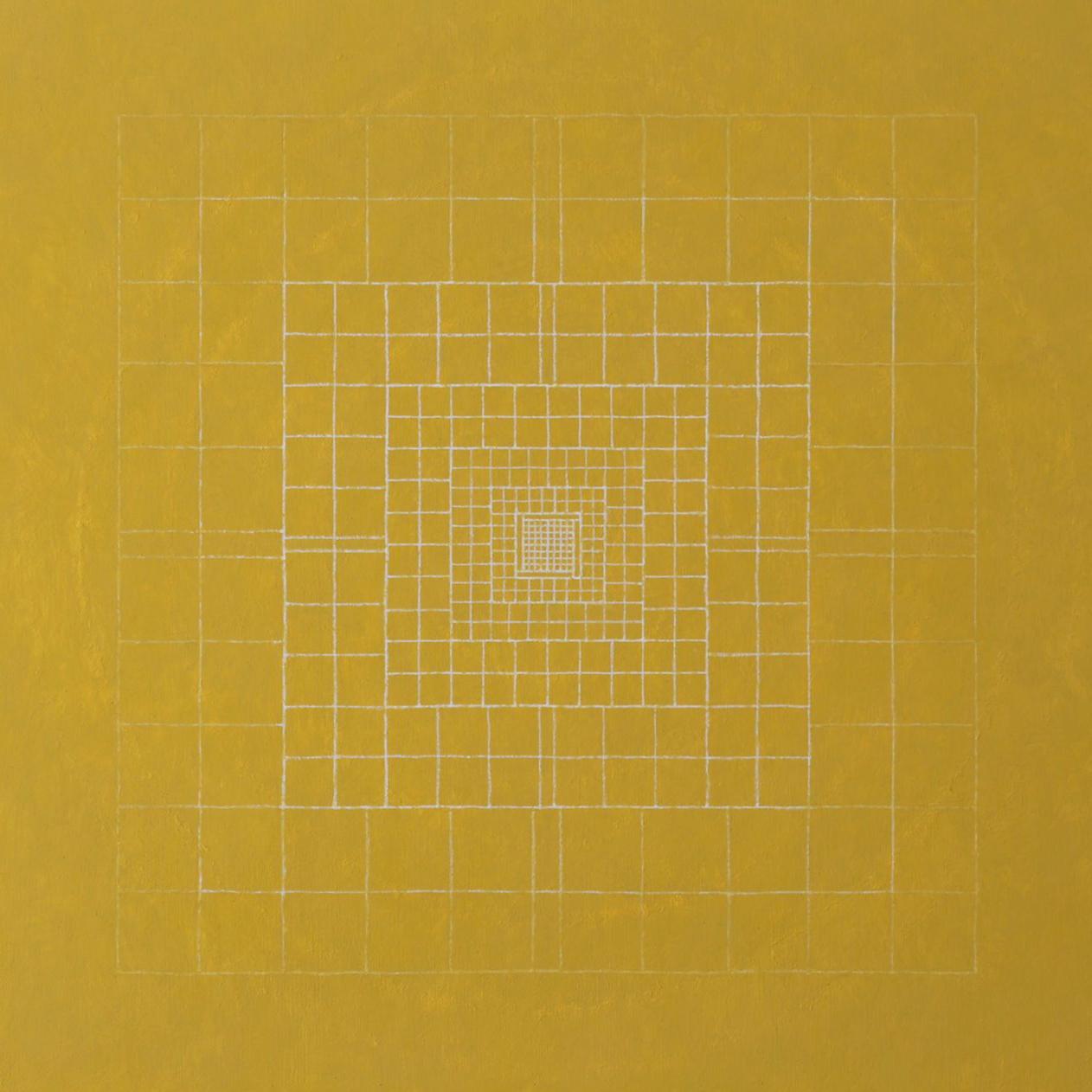 Silent-origo-metrum, 2014, acrylic on canvas, 17 3/4 x 17 3/4 in. [45x45cm]
