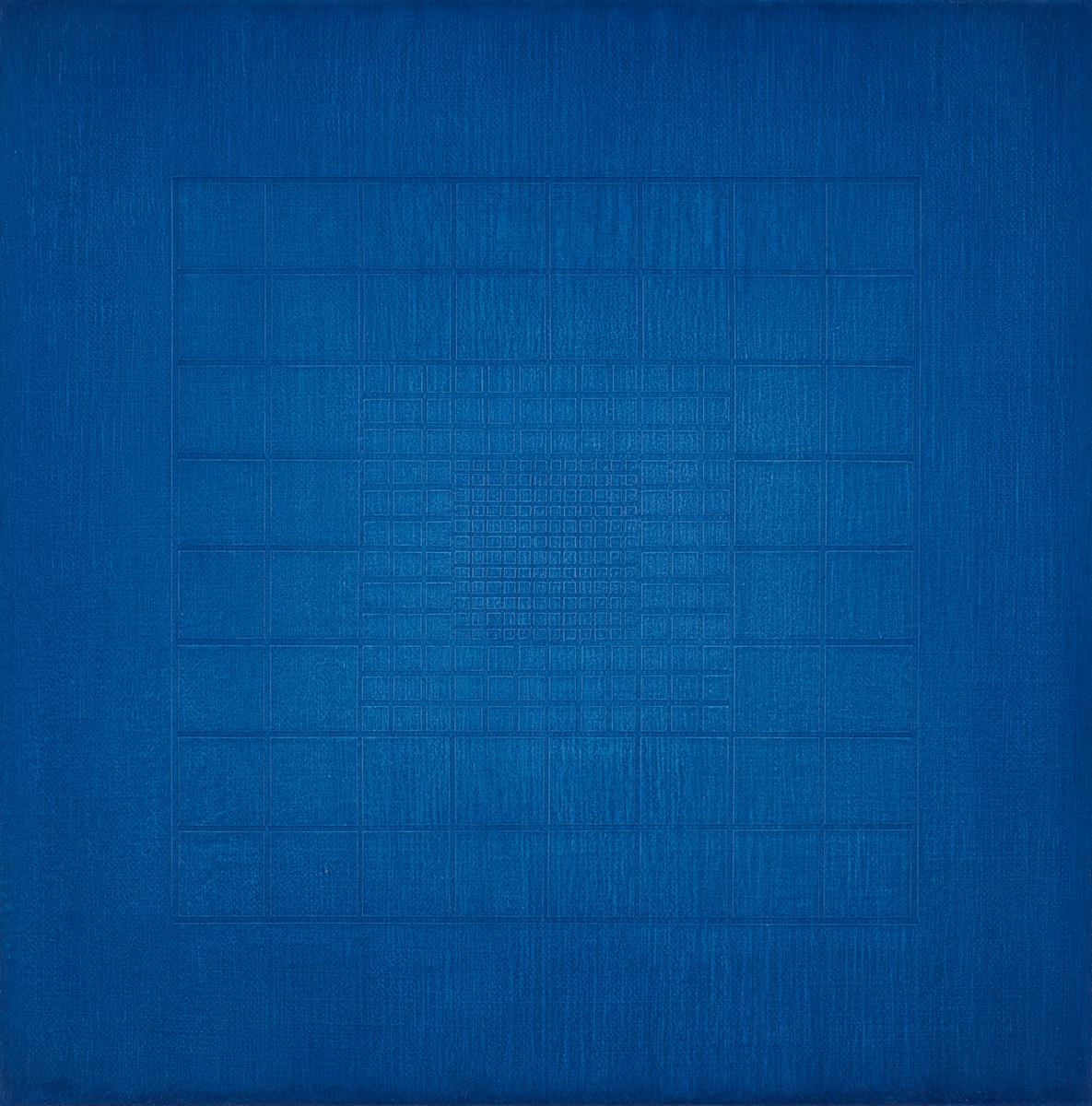 Silent-origo-metrum [20181021], 2018, acrylic on canvas, 11 13/16 x 11 13/16in. [30x30cm]